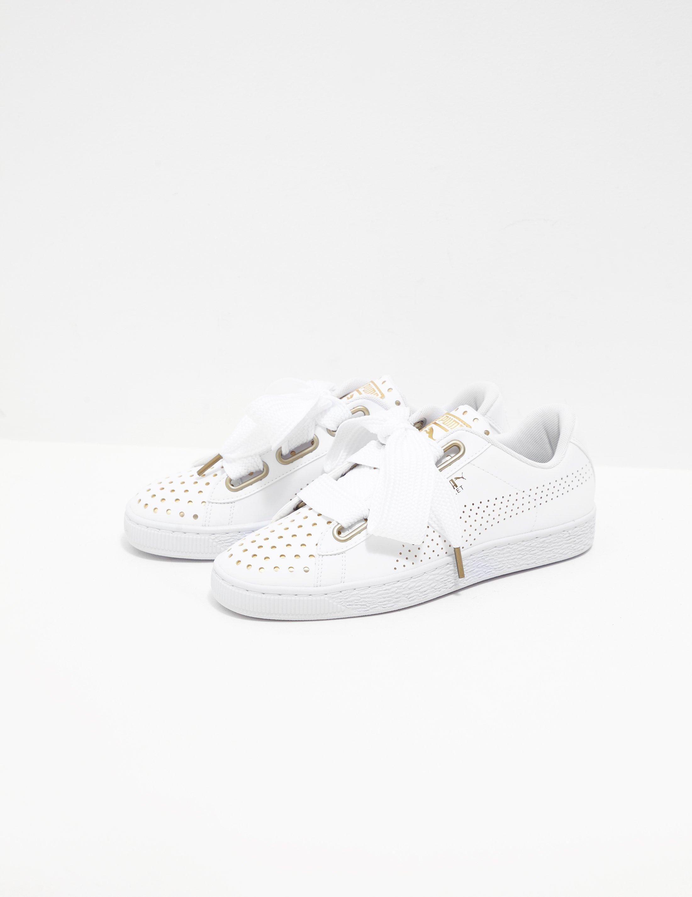 outlet store db377 771d2 Lyst - PUMA Basket Heart Ath - Online Exclusive White in ...