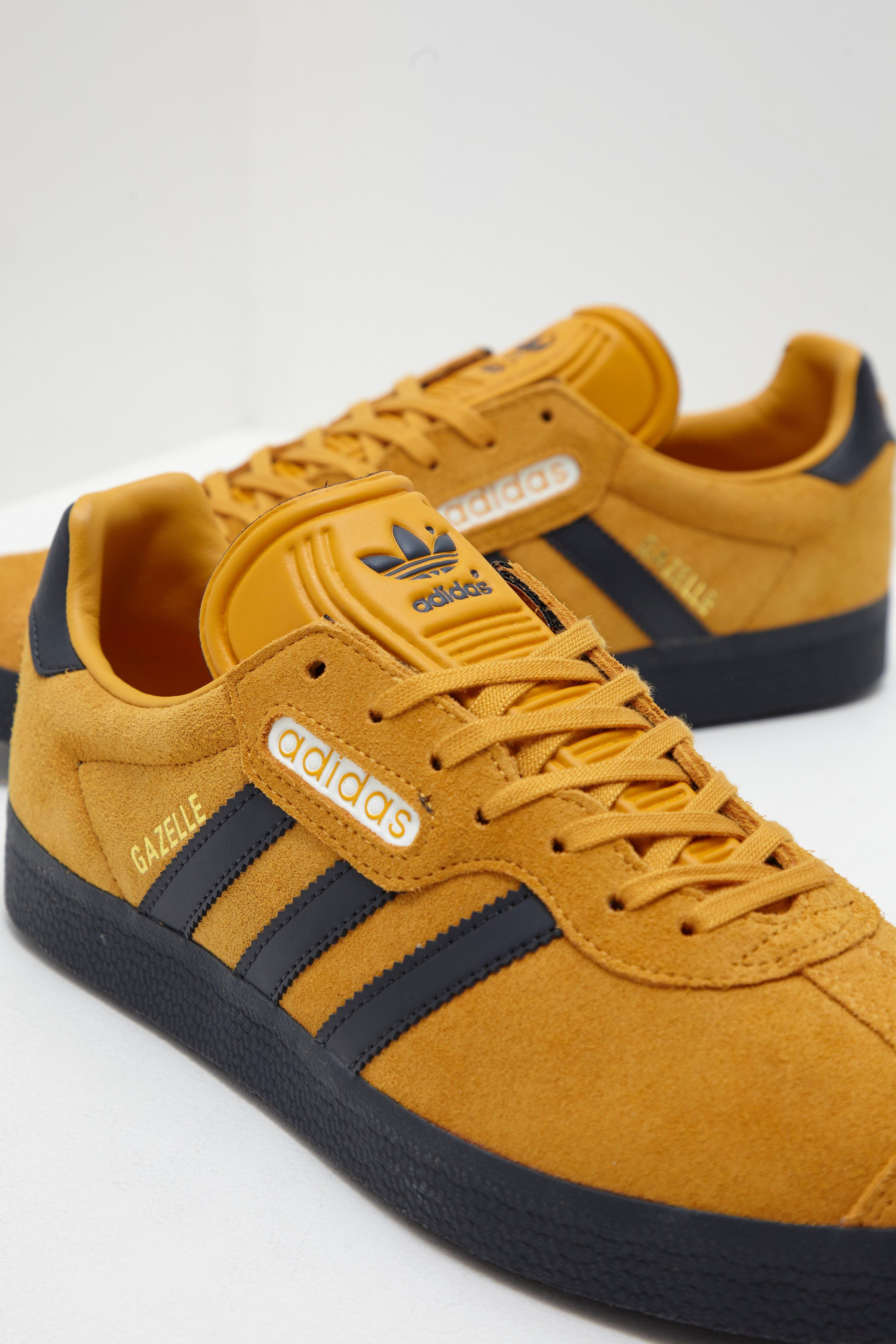black and yellow adidas gazelles cheap online