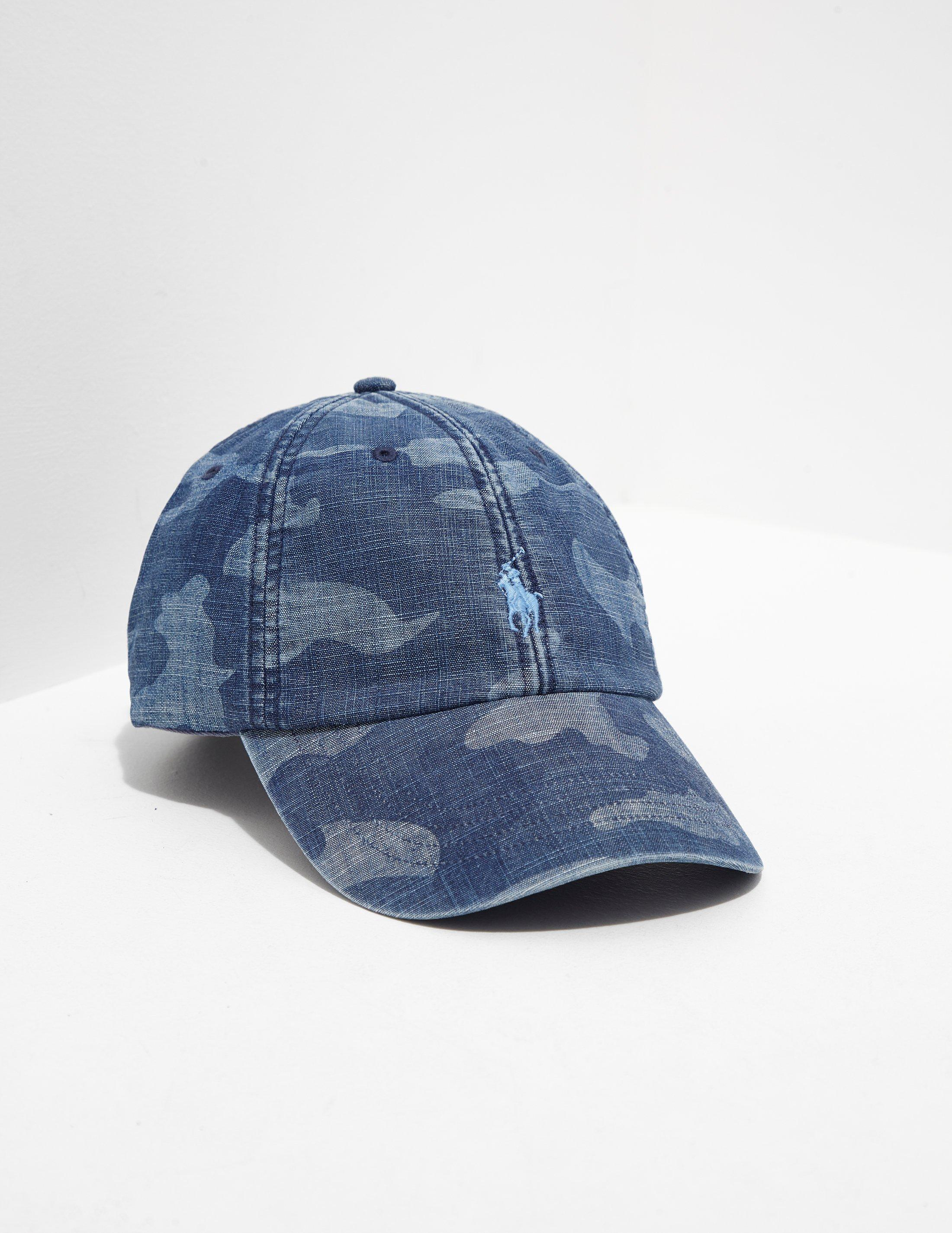 d809bfa9863c1 Polo Ralph Lauren Mens Camo Cap - Online Exclusive Blue in Blue for ...