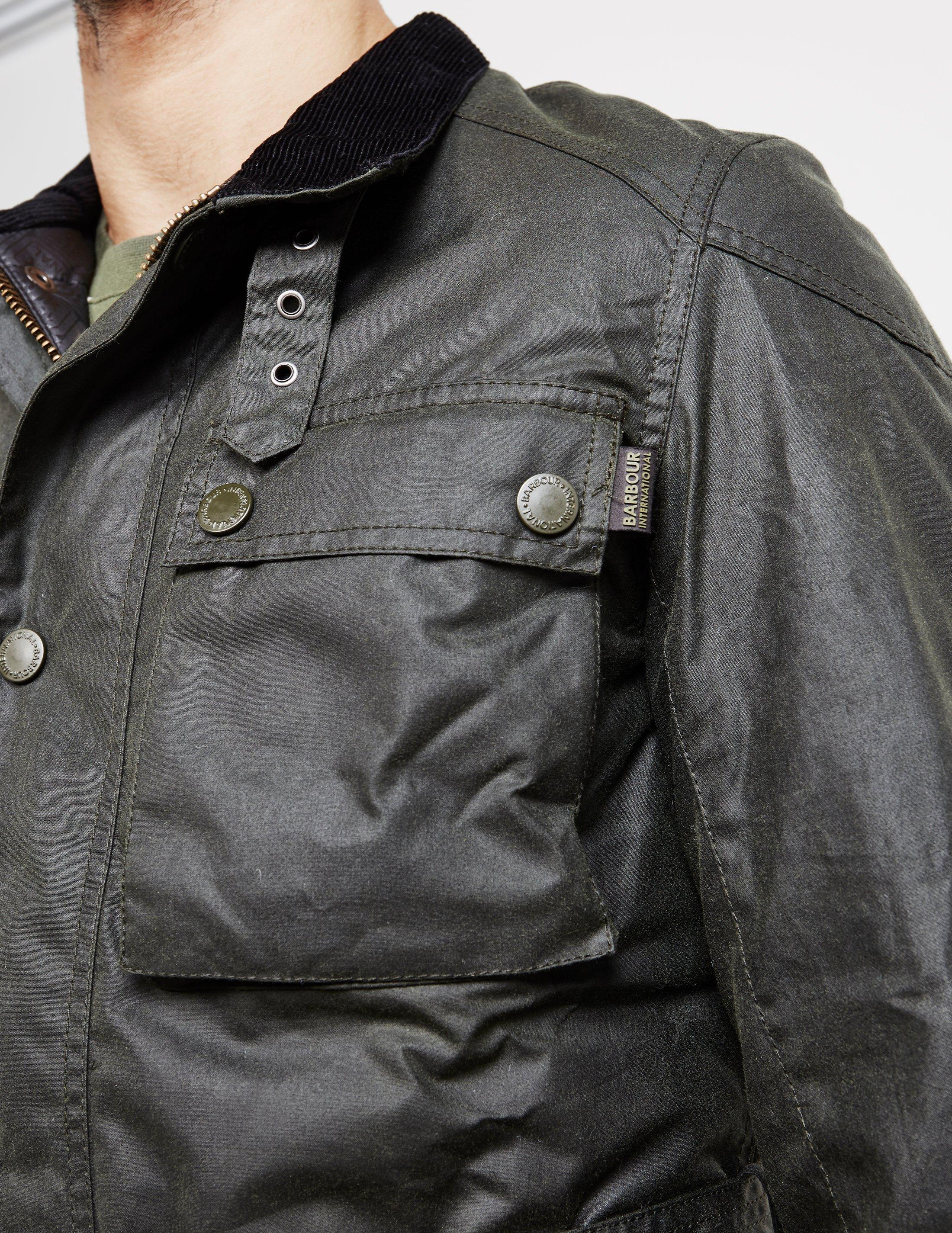 ec10f26abc Barbour International Blackwell Waxed Jacket Sage/sage for Men - Lyst