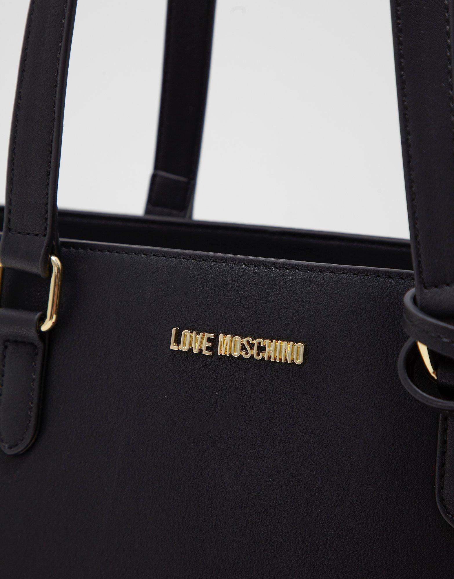 LOVE Moschino Womens Pom Pom Tote
