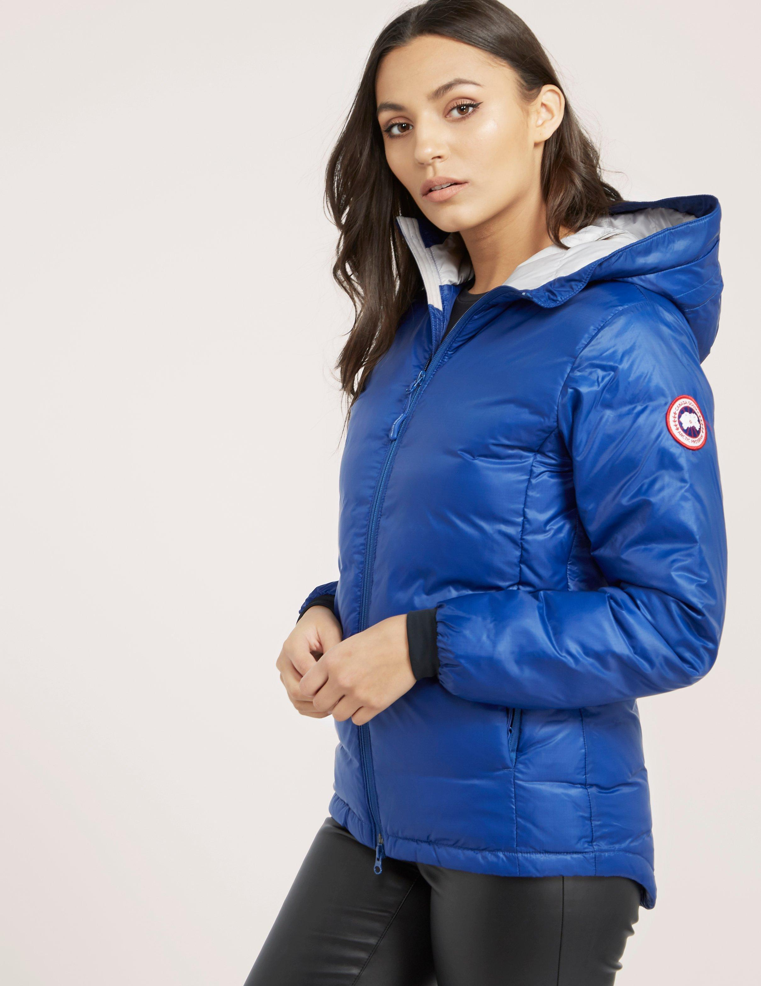 cfe1337bda74 Canada Goose Womens Camp Hooded Padded Jacket Blue in Blue - Lyst