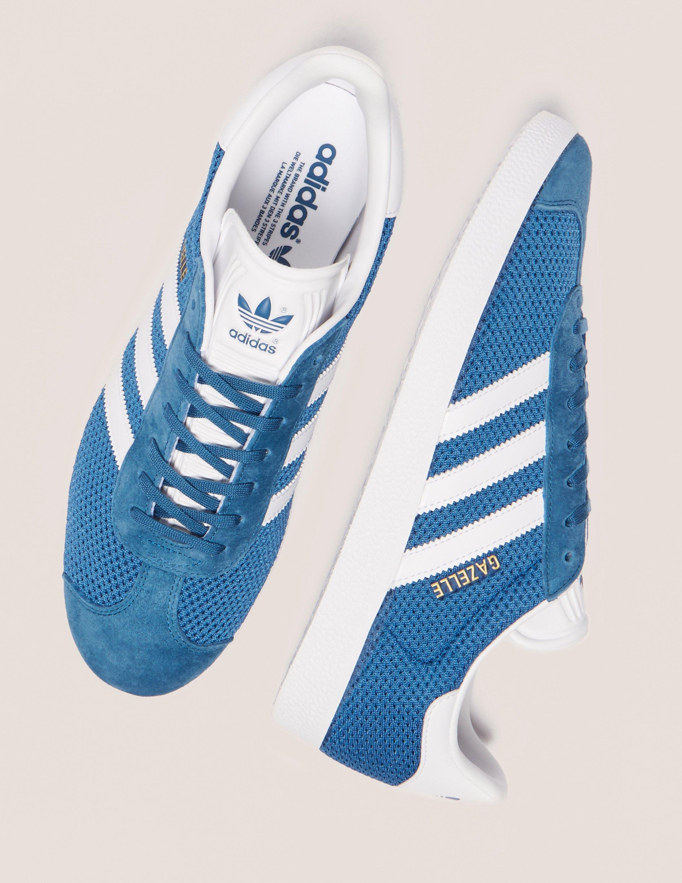 adidas Originals Leather Mens Gazelle Core Mesh Blue, Blue for Men ...