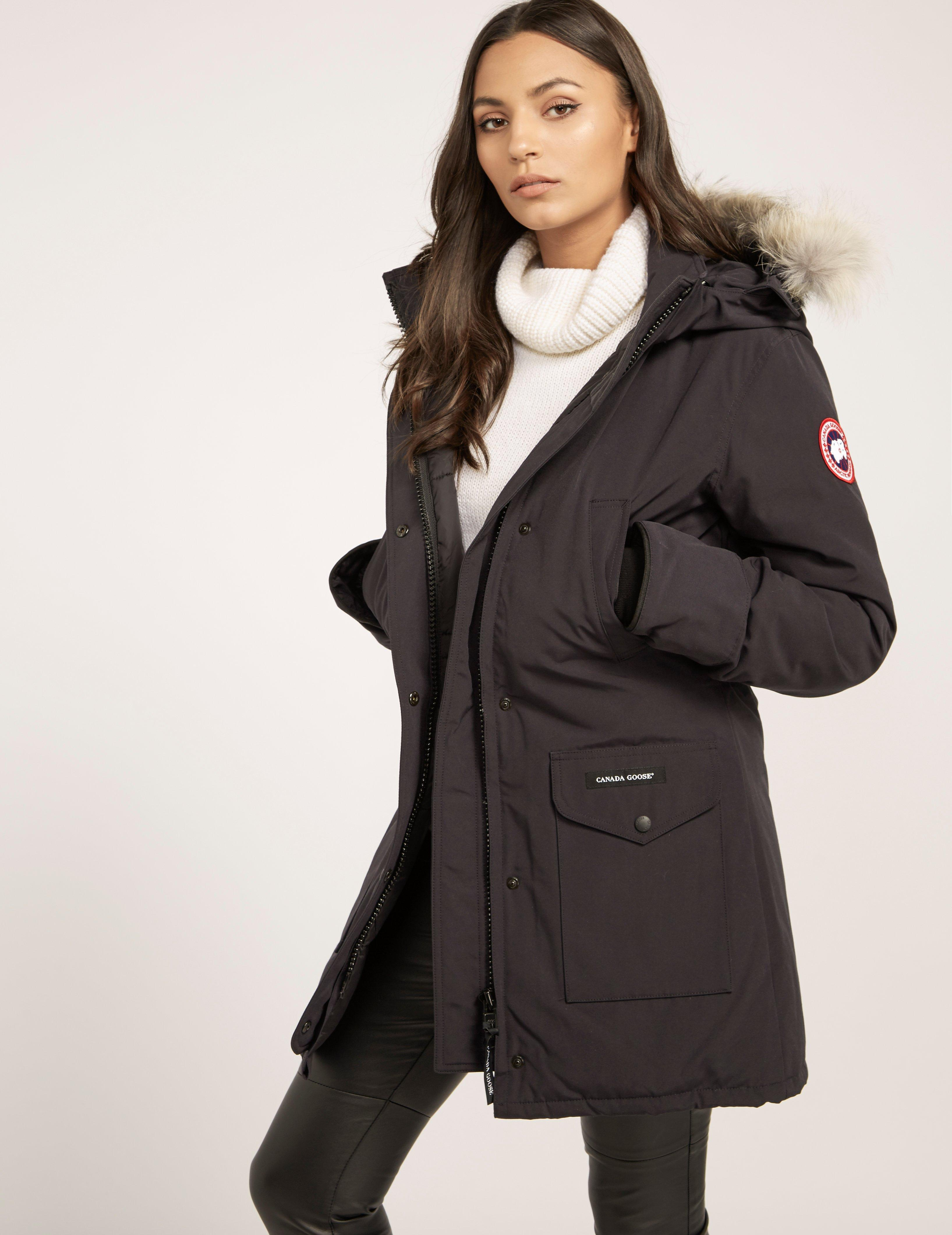 canada goose womens trillium padded parka jacket navy blue in blue rh lyst co uk  canada goose trillium womens parka jacket