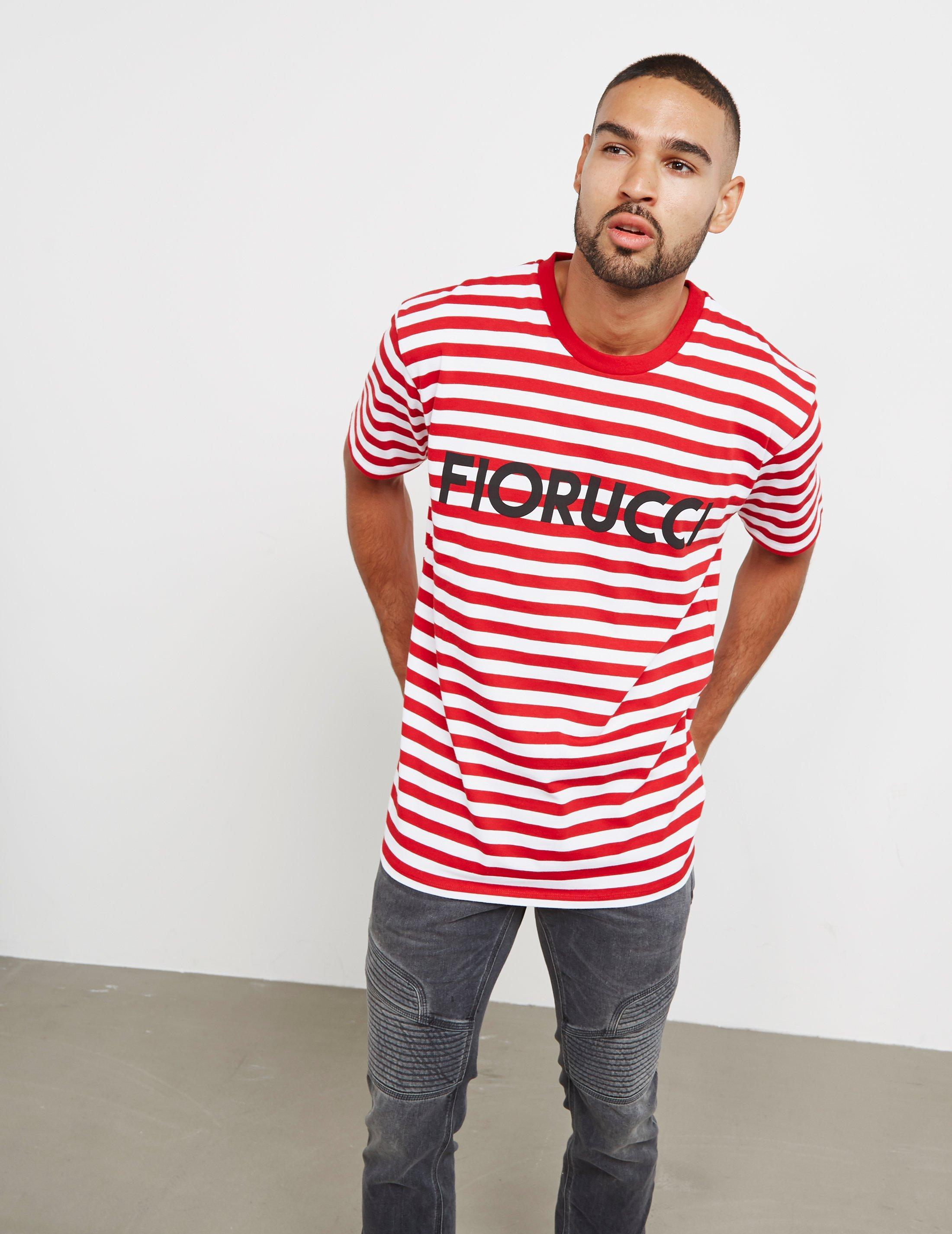 b412c476e89 Fiorucci Stripe Short Sleeve T-shirt Red in Red for Men - Save 51% - Lyst