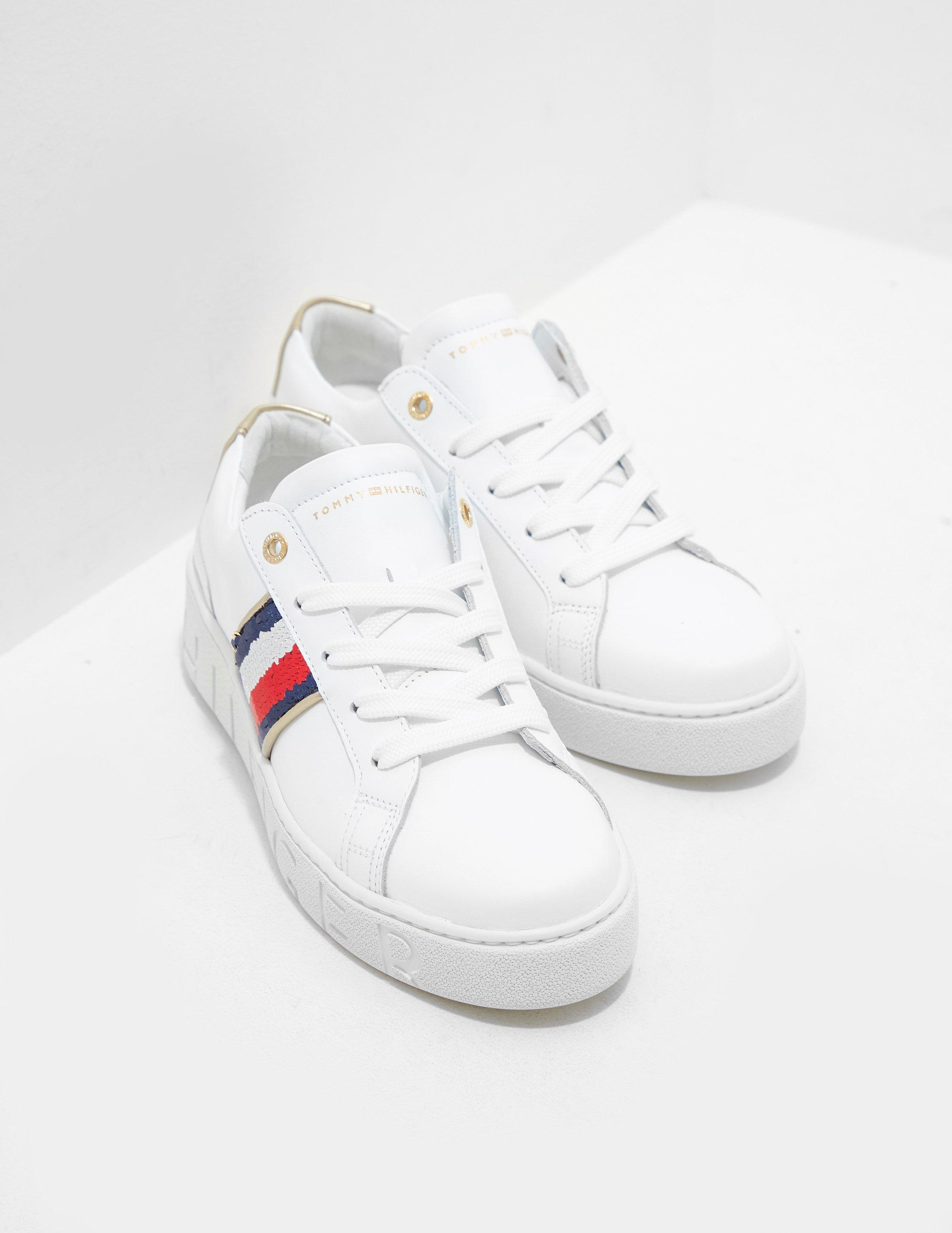 Tommy Hilfiger Leather Sequin Trainers