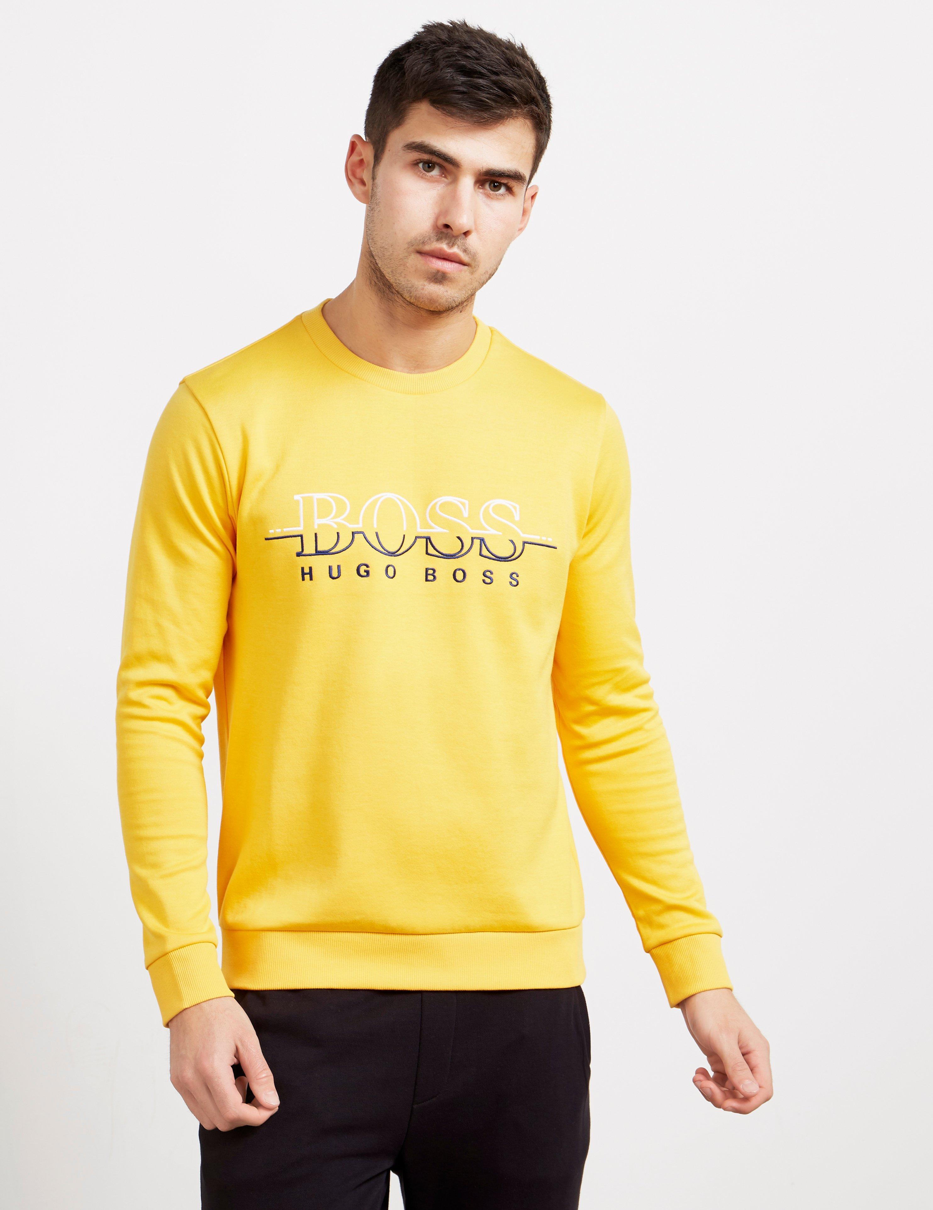 46ee36438 BOSS Salbo Crew Neck Sweatshirt Orange in Orange for Men - Lyst