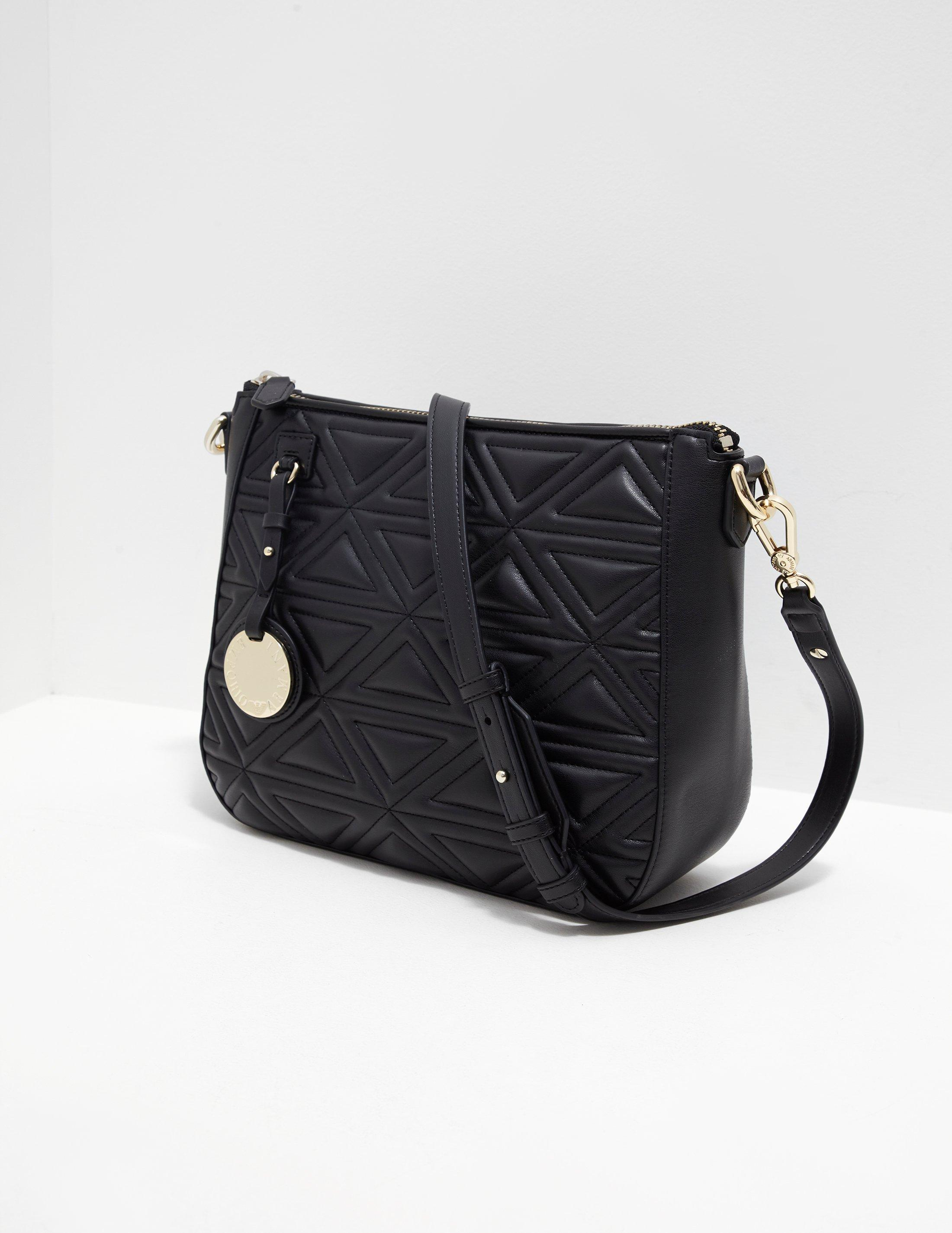 9a2cfa8d2c5f Lyst - Emporio Armani Womens Quilted Hobo Bag Black in Black