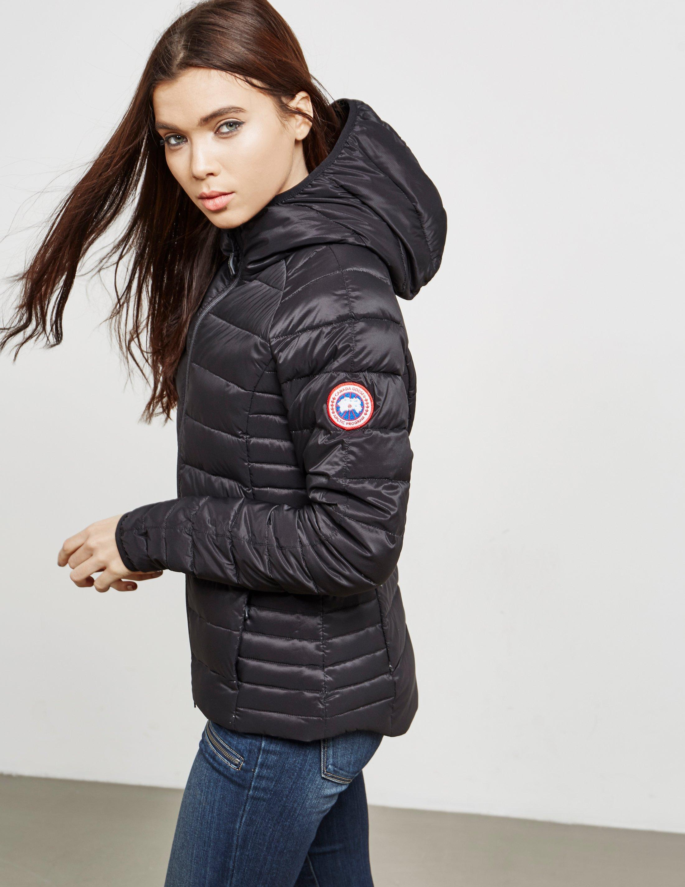 29c4cff6315 Canada Goose Gray Womens Camp Hooded Padded Jacket - Online Exclusive Grey