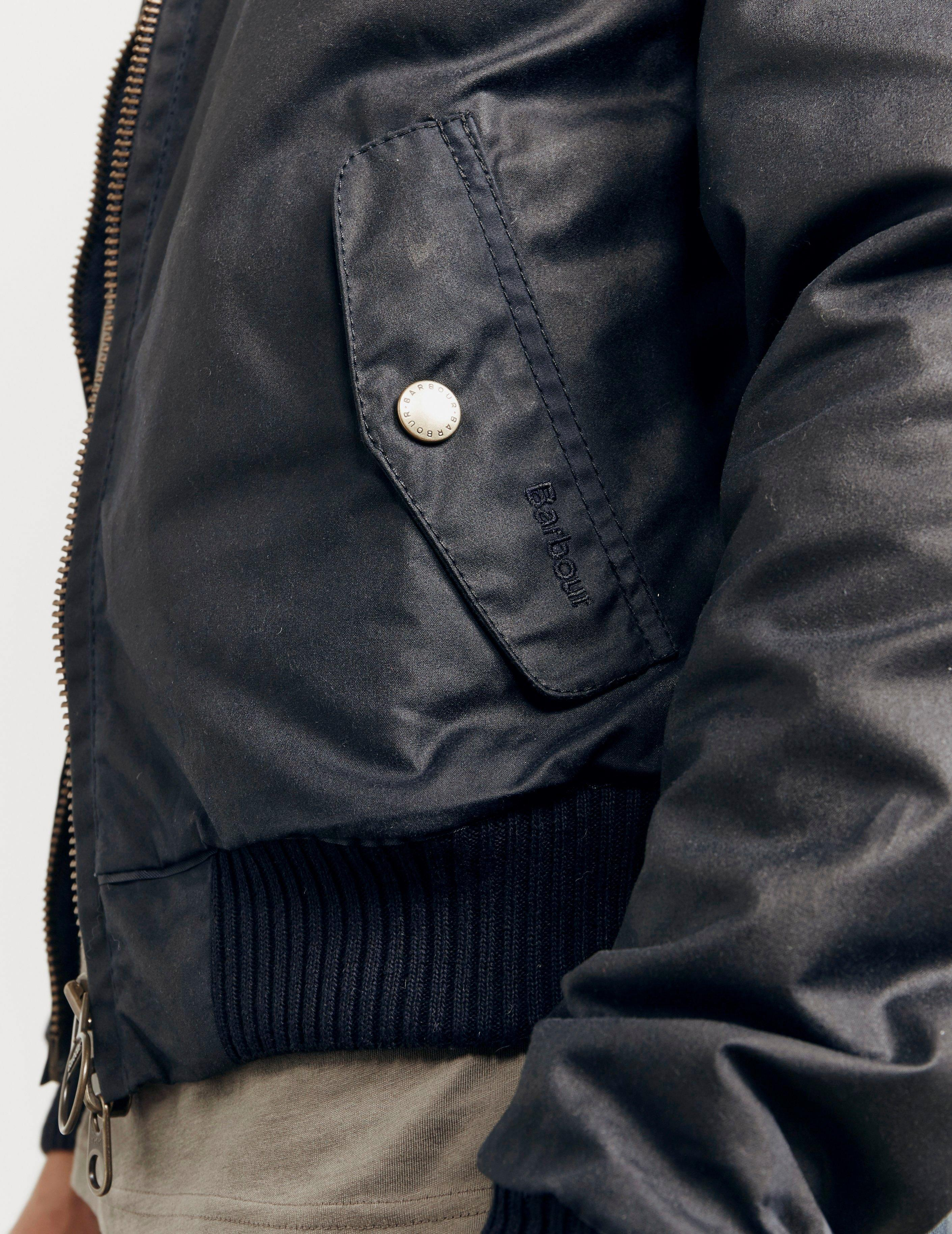 release info on factory outlets detailed look International X Steve Mcqueen Merchant Wax Jacket Navy Blue