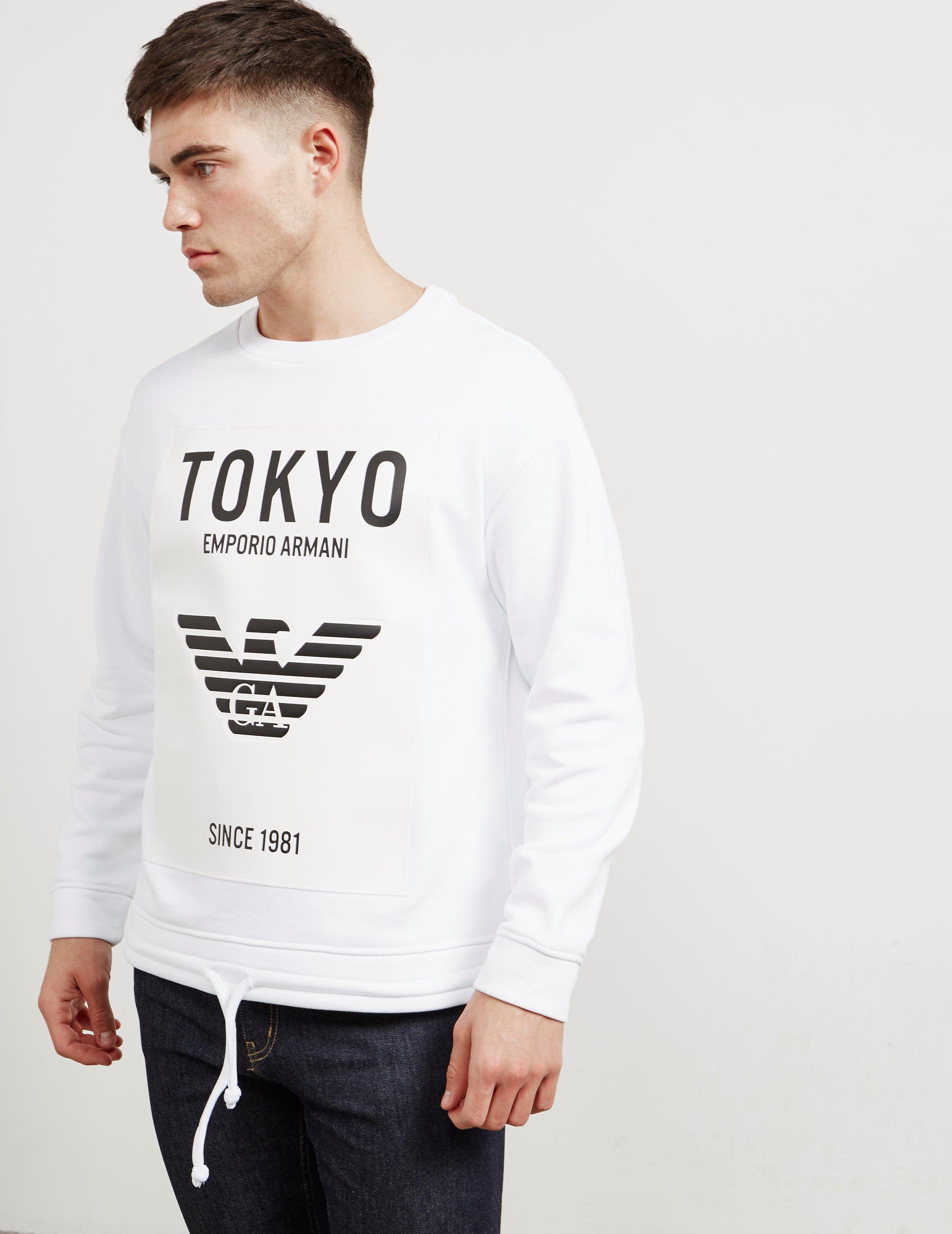 6960f836e6827 Emporio Armani Mens Tokyo Sweatshirt - Online Exclusive White in ...