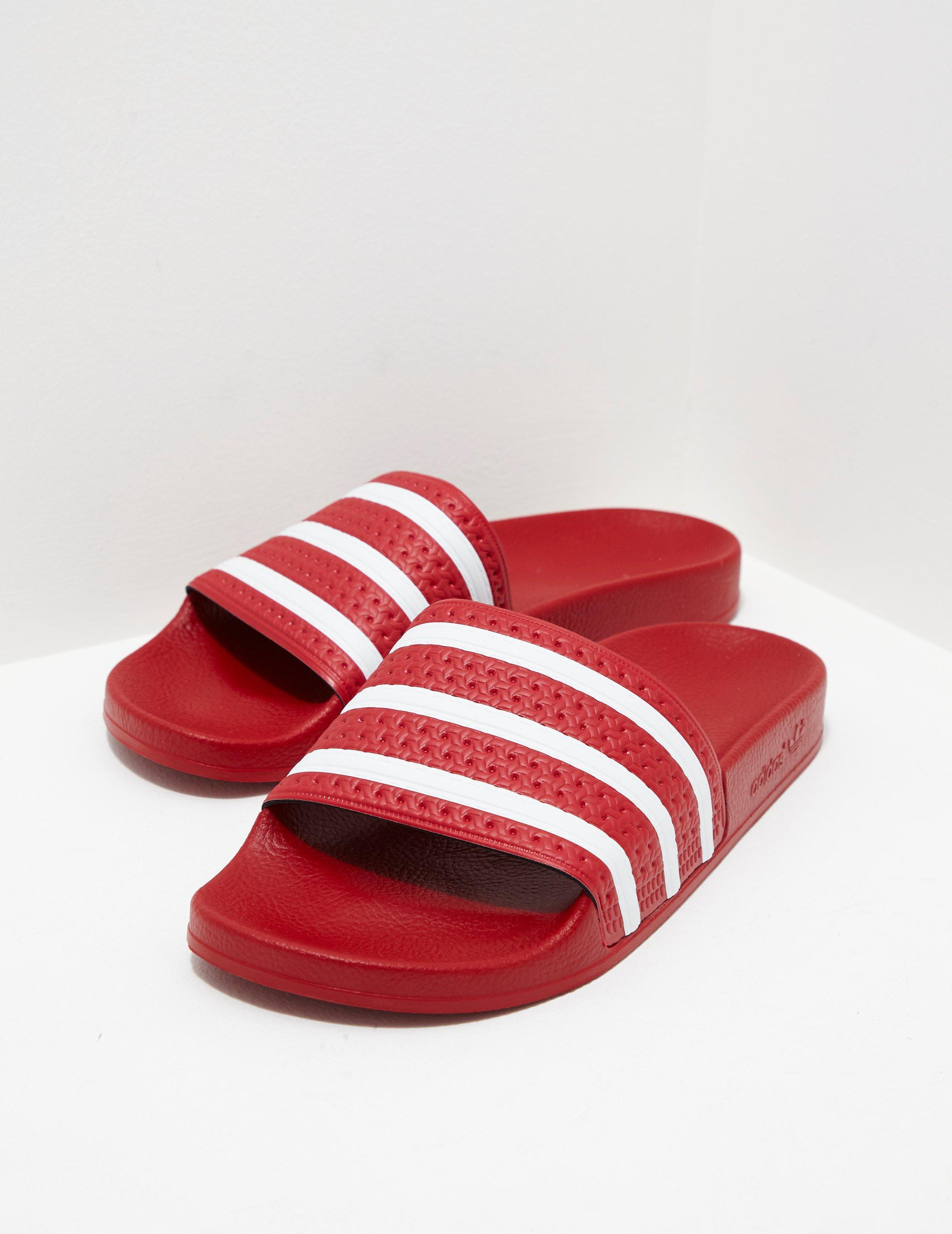 7eafca618c0a Lyst - adidas Originals Mens Adilette Slides Red in Red for Men