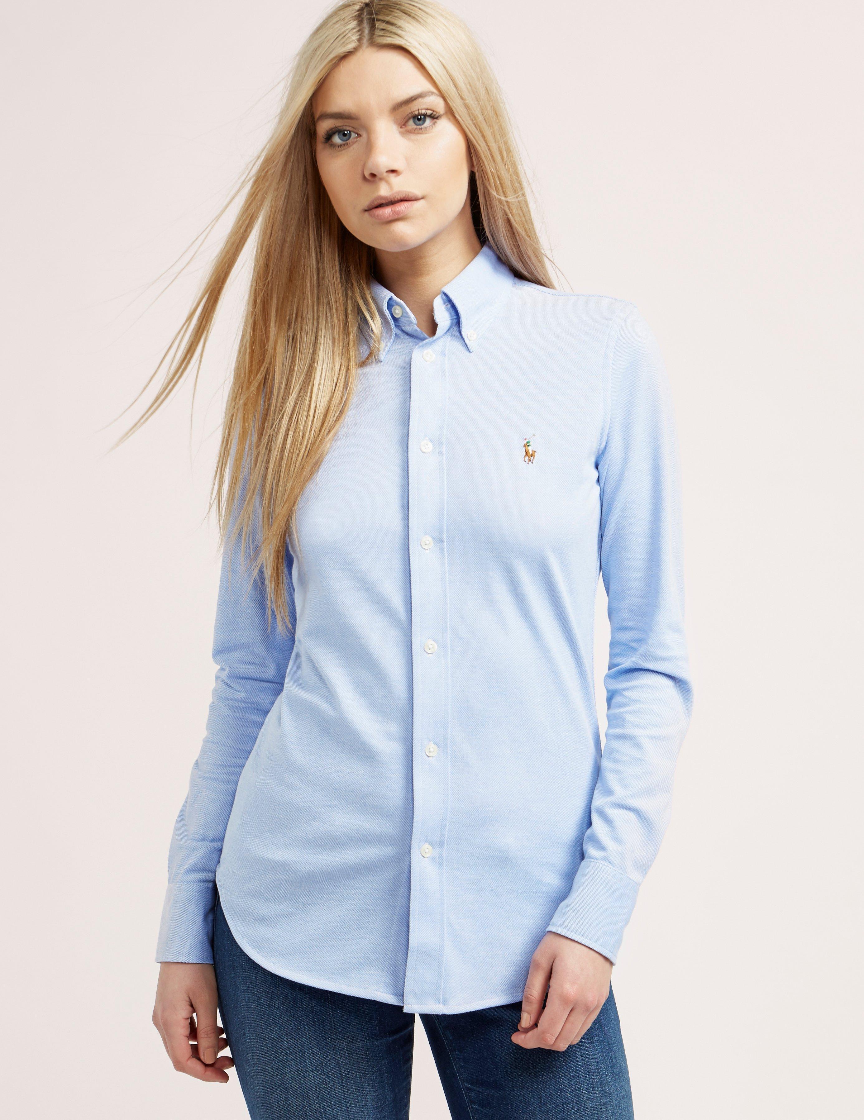 Ralph Shirt Oxford Blue Polo Lauren vwmNOn08