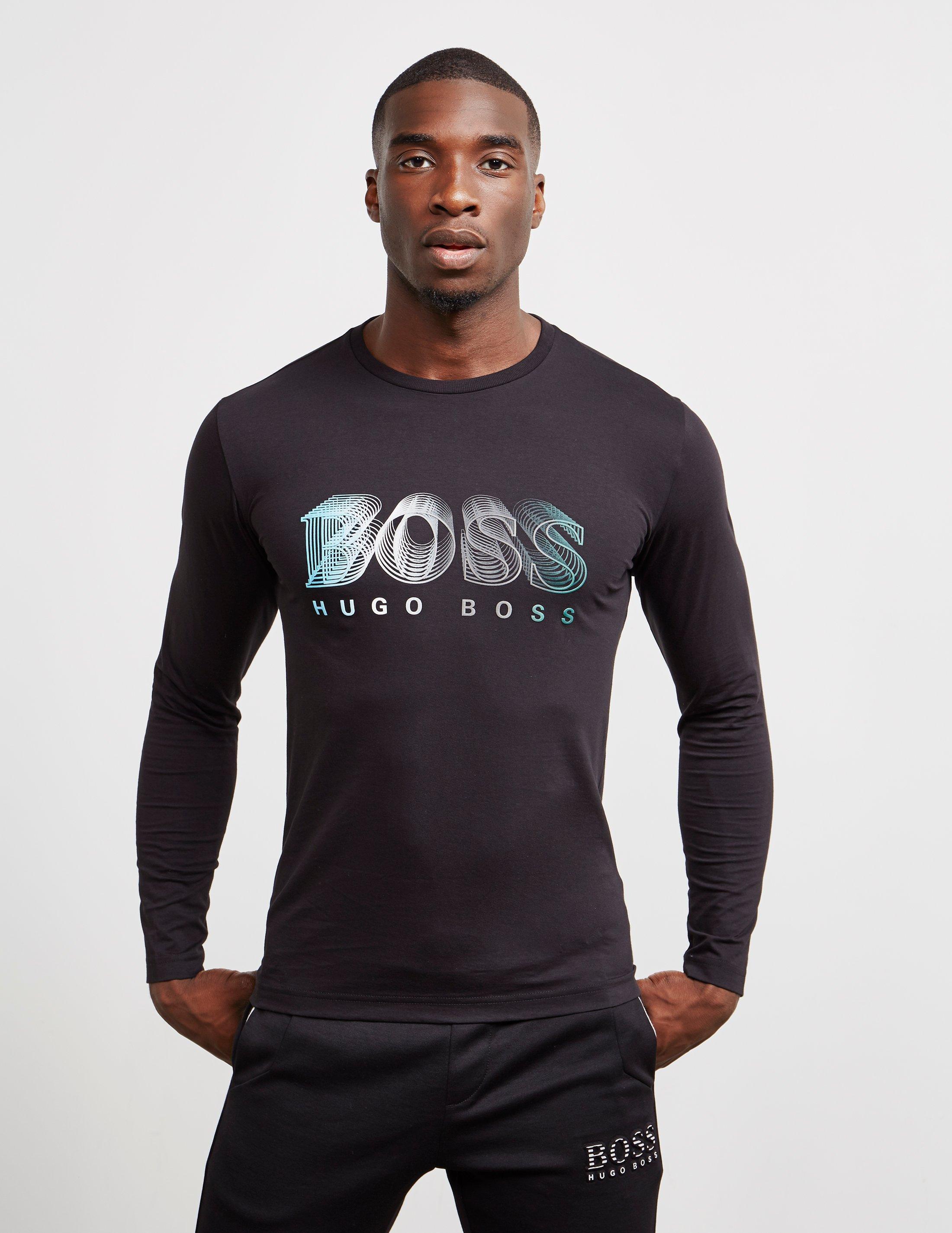 889916395 BOSS Togn1 Long Sleeve T-shirt Black in Black for Men - Lyst