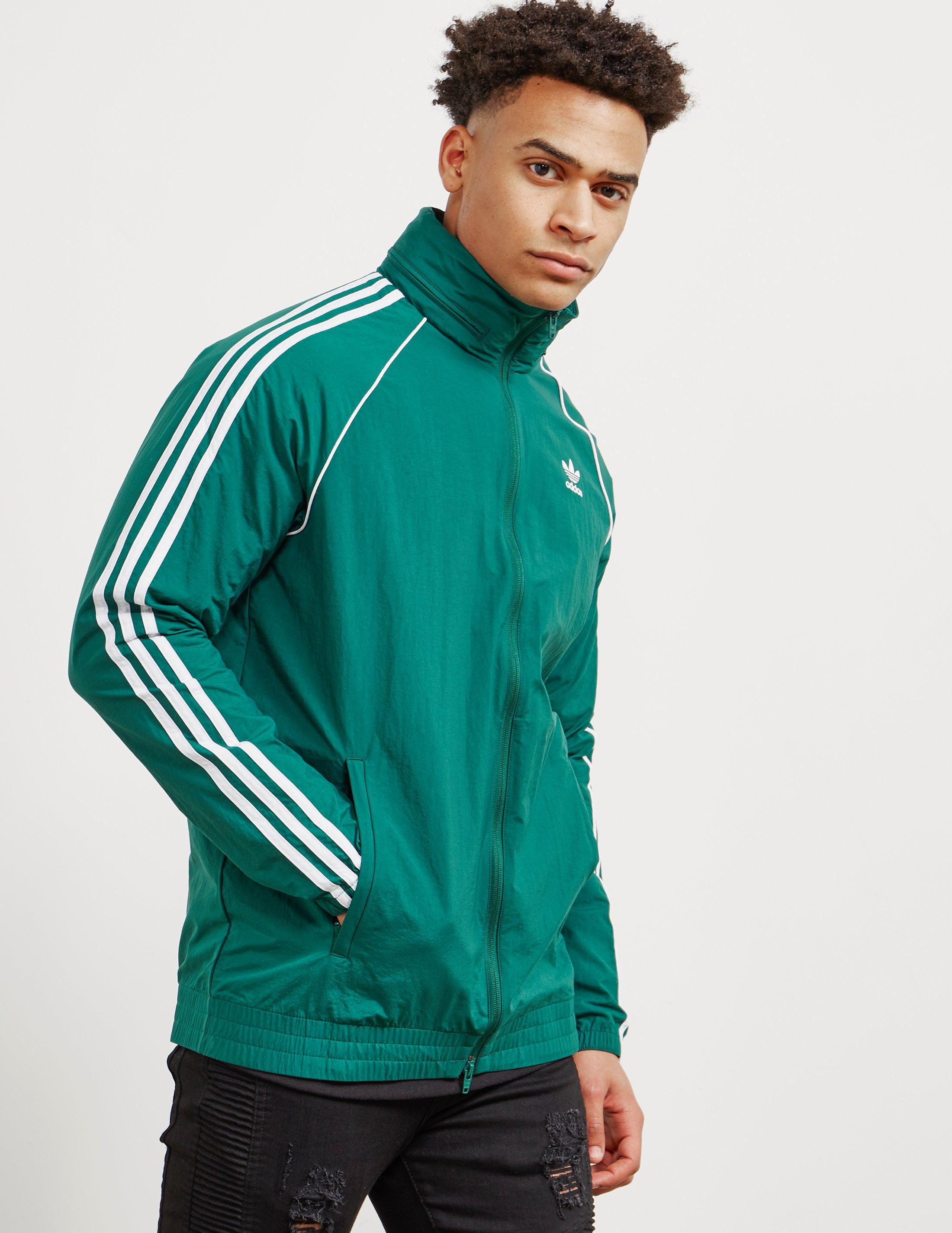 adidas Originals Synthetic Mens Superstar Windbreaker Green