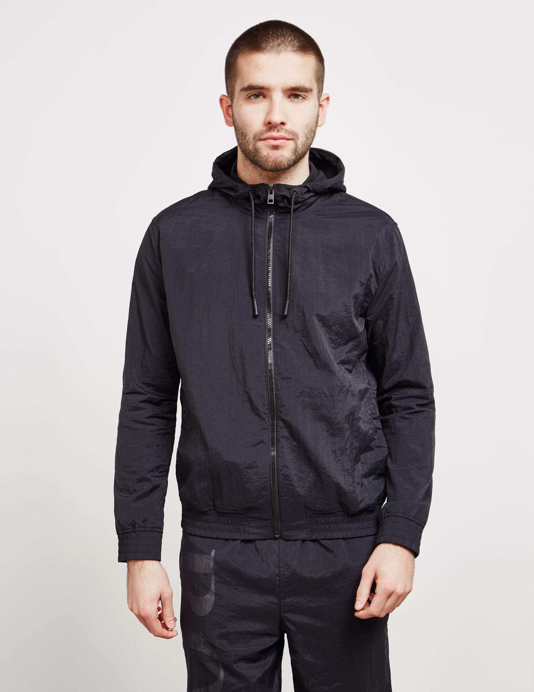103a87fb Lyst - BOSS Mens Zinc Full Zip Hoodie Black in Black for Men