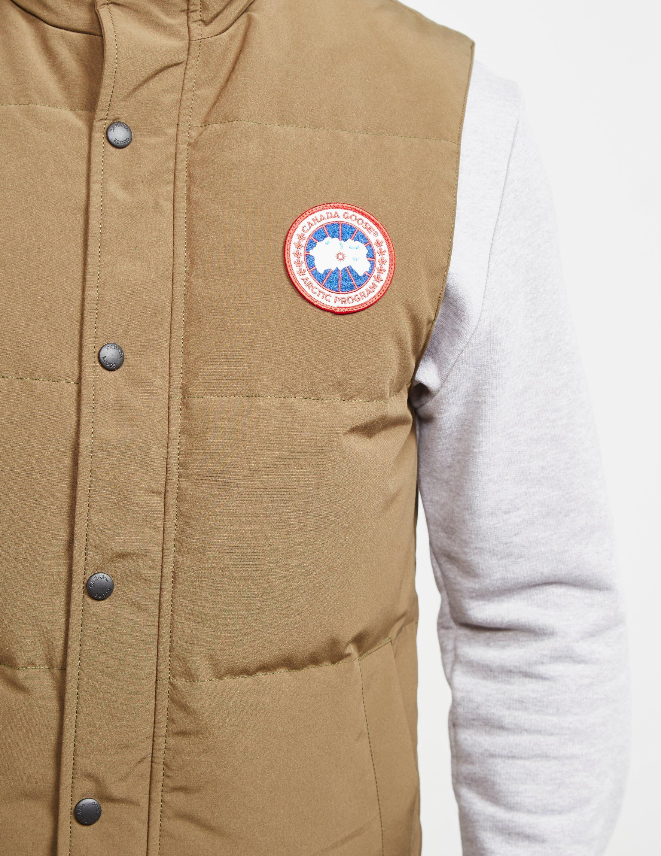 562a713fd9ed6d Canada Goose Garson Quilted Gilet Khaki/khaki in Natural for Men - Save 4%  - Lyst