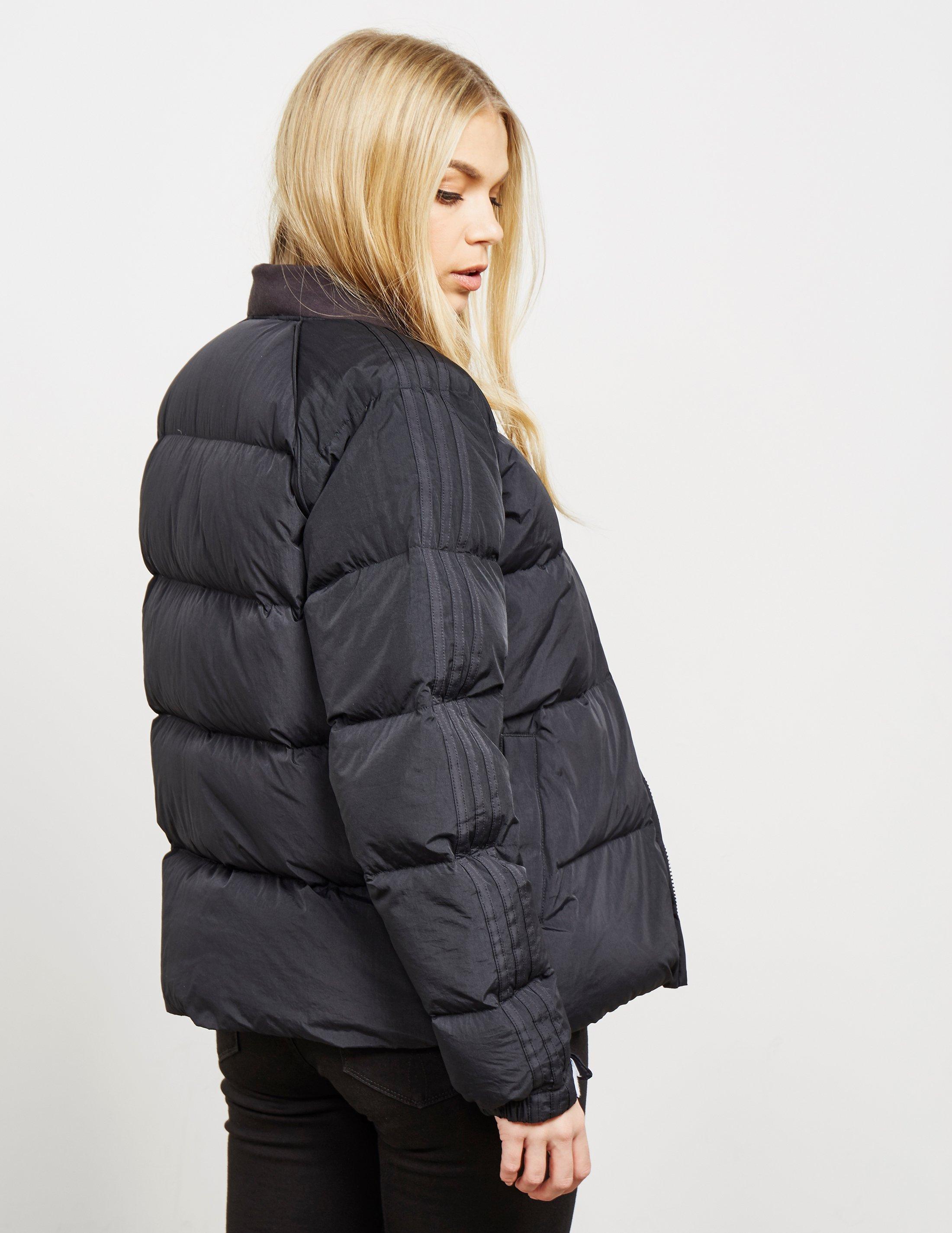 42cd83296 adidas Originals Womens Down Padded Jacket Black in Black - Lyst