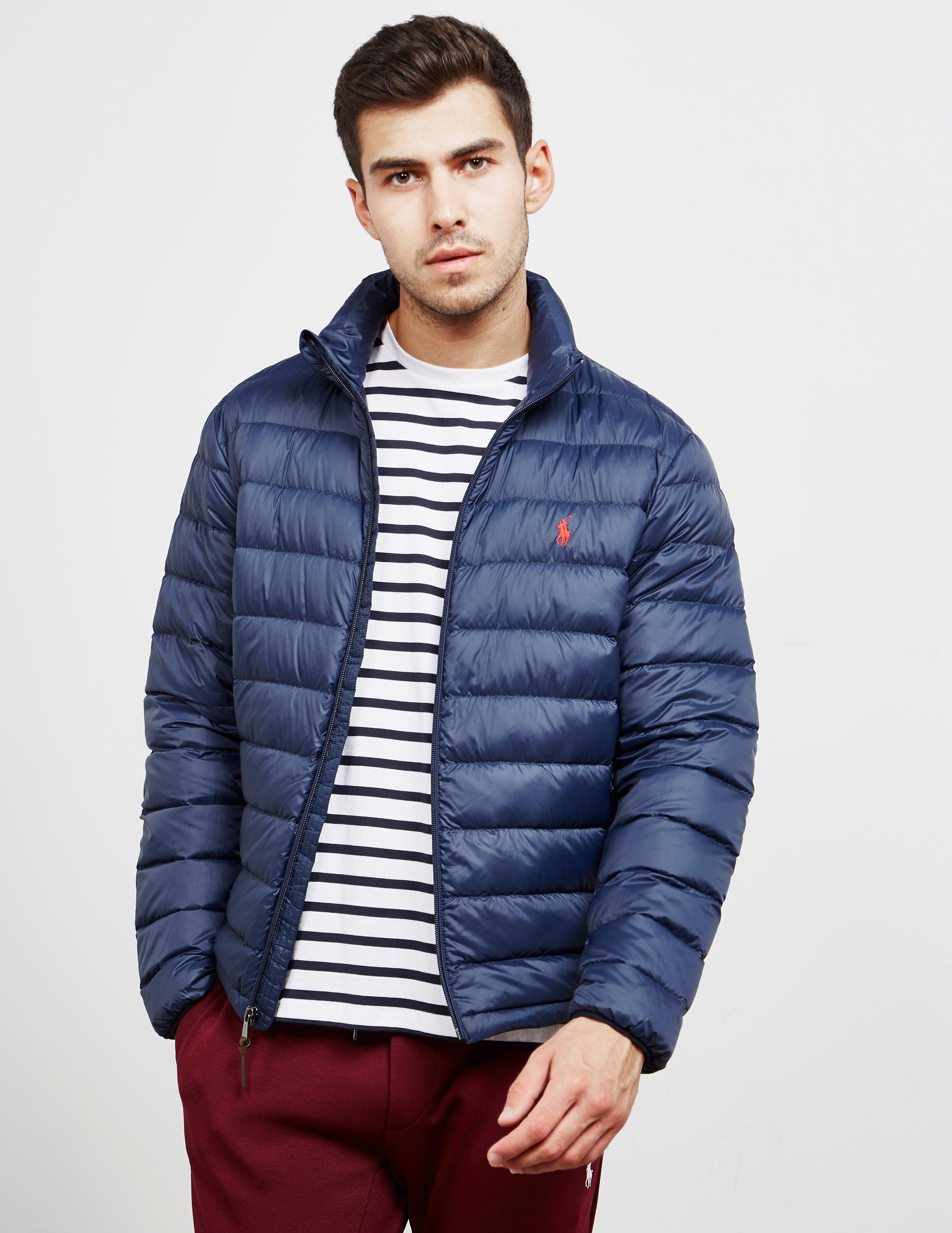 c18b3fb2e62ad Polo Ralph Lauren Lightweight Padded Jacket Navy Blue in Blue for ...