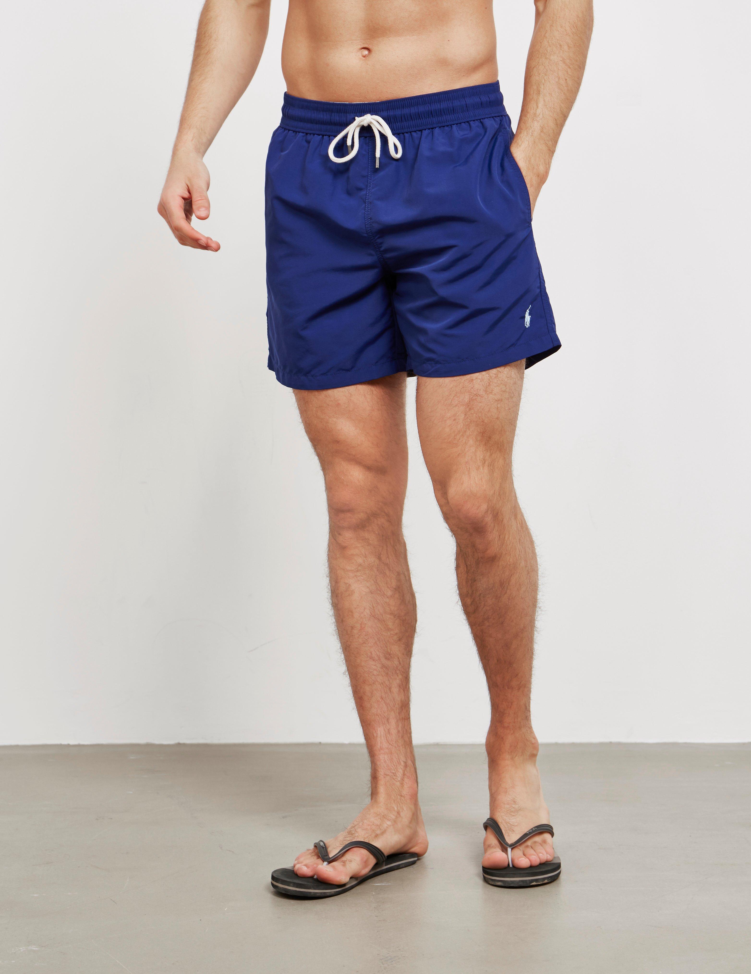 23999a47b4202 Polo Ralph Lauren Basic Swim Shorts Navy Blue in Blue for Men - Lyst