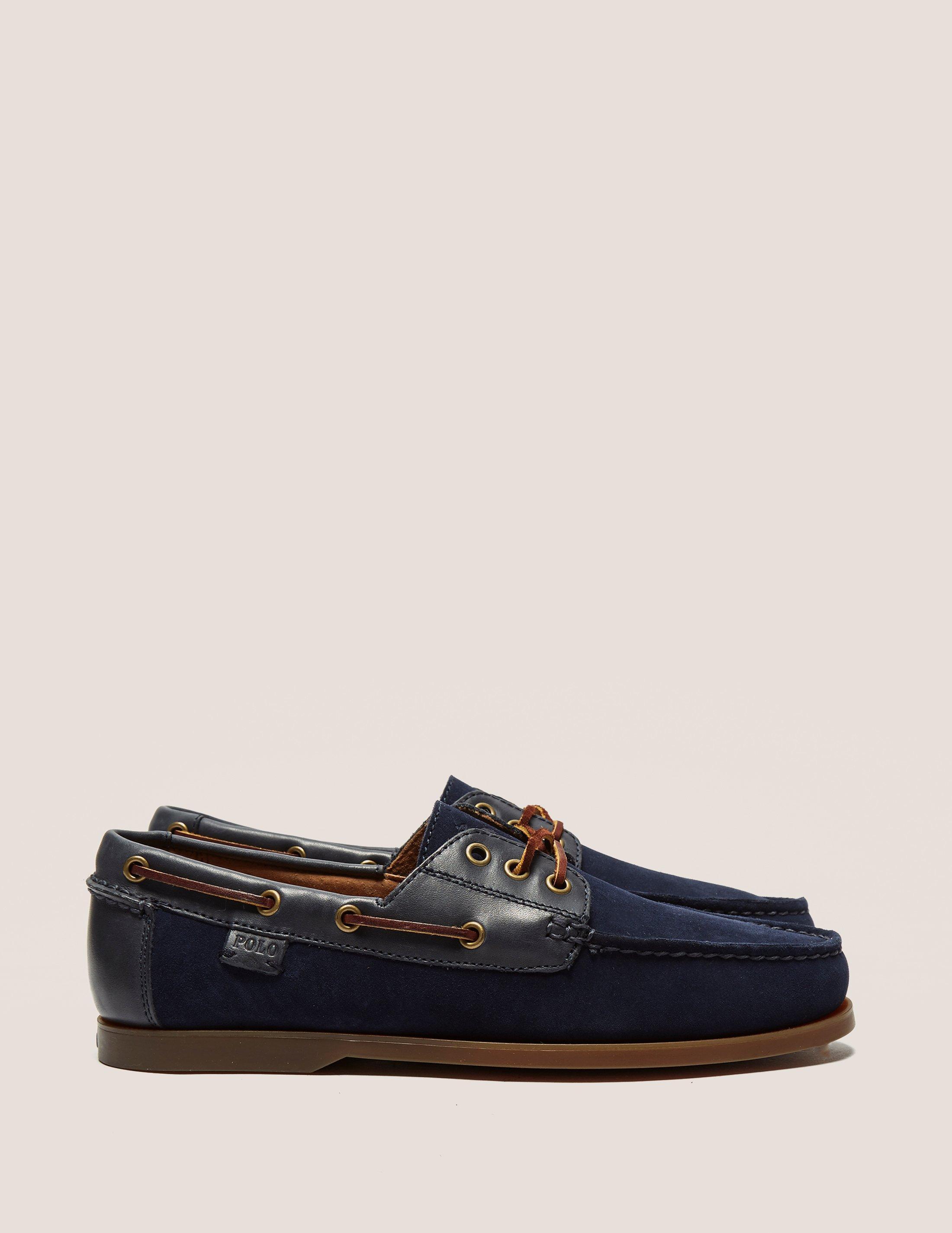 Polo Ralph Lauren Boat Shoes Blue Bienne