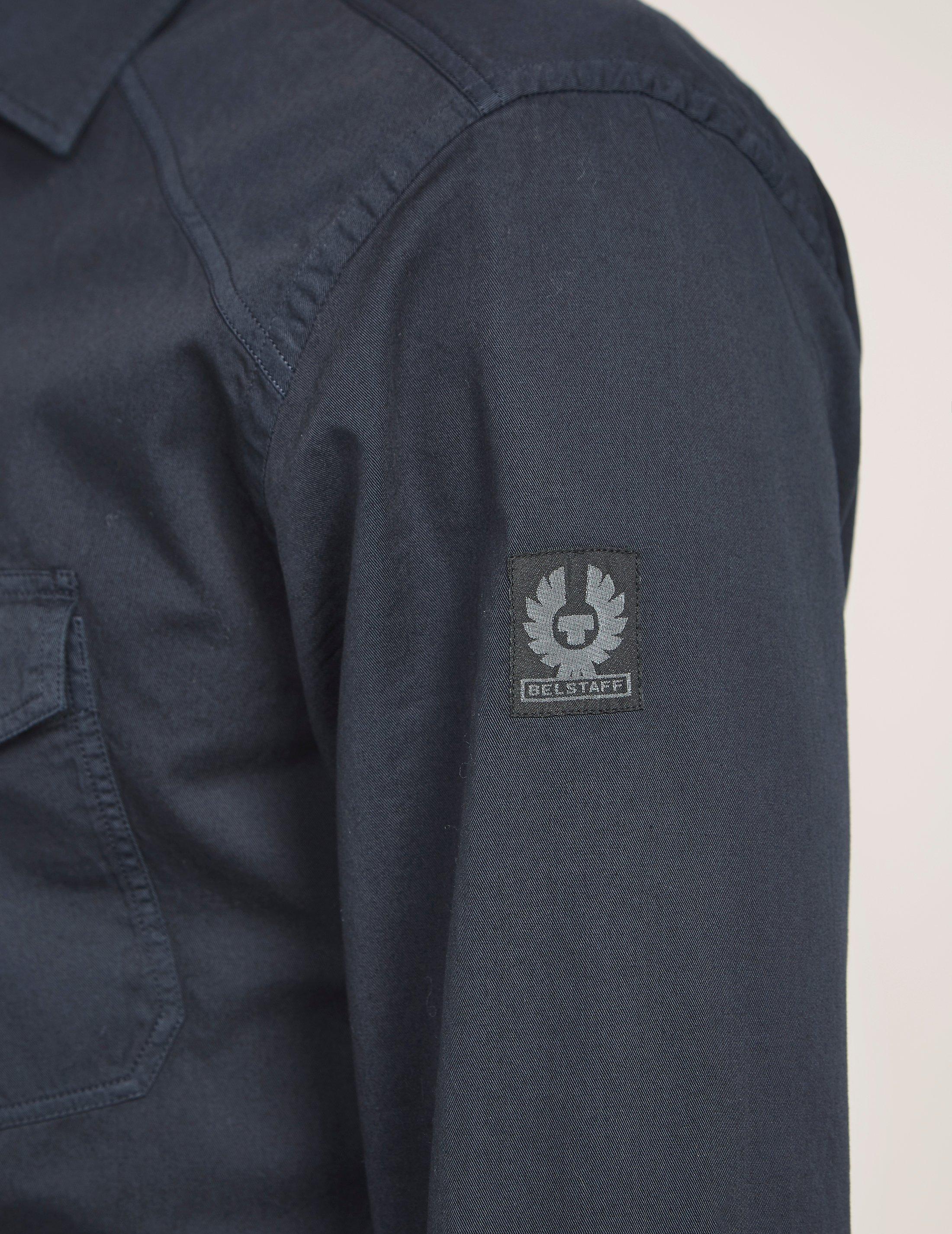 Lyst Belstaff Steadway Long Sleeve Shirt In Black For Men