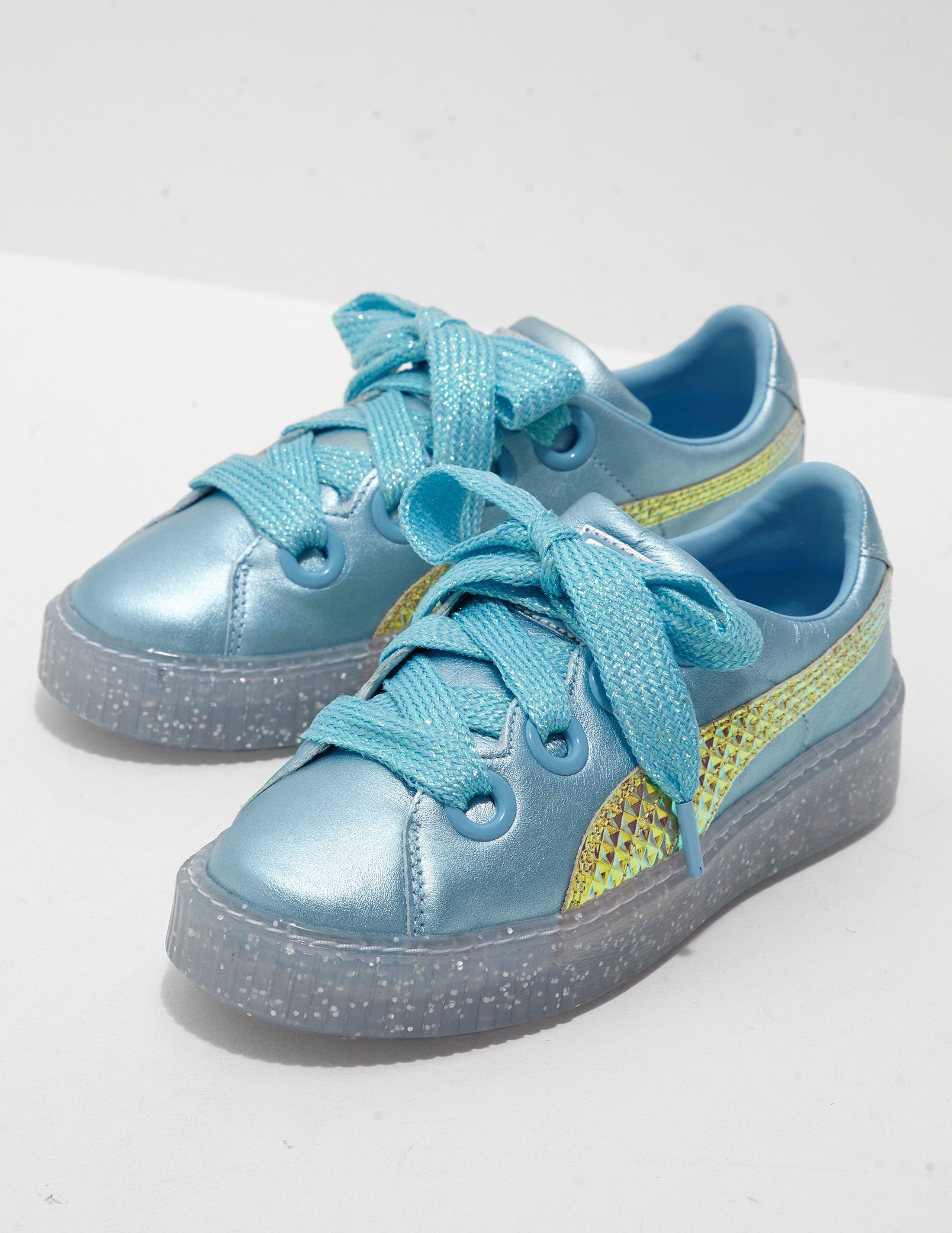 60ace1de664e2 Lyst - PUMA X Sophia Webster Glitter Princess Trainers Blue in Blue ...