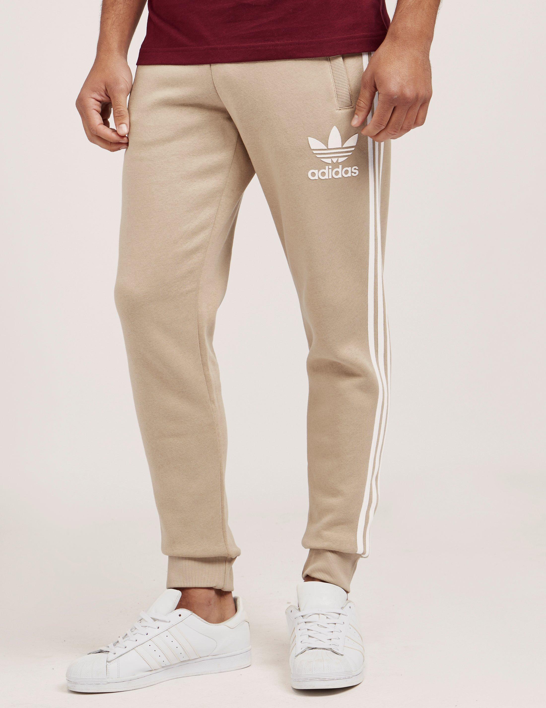 8b27904bd0 adidas Originals Mens California Cuffed Track Pants Stone/white ...