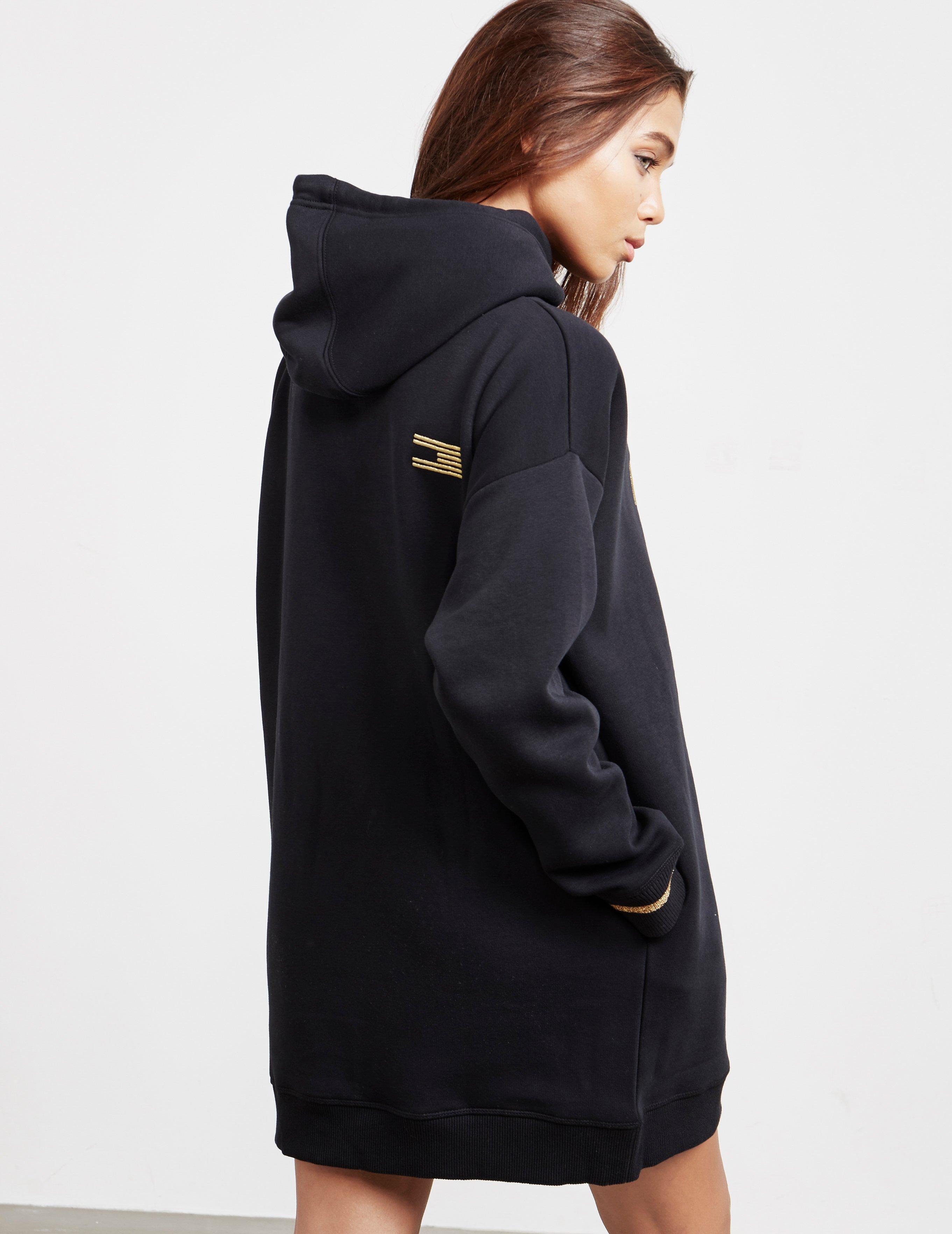 0d670ef5579 Tommy Hilfiger Womens Noelle Hooded Dress Black in Black - Lyst