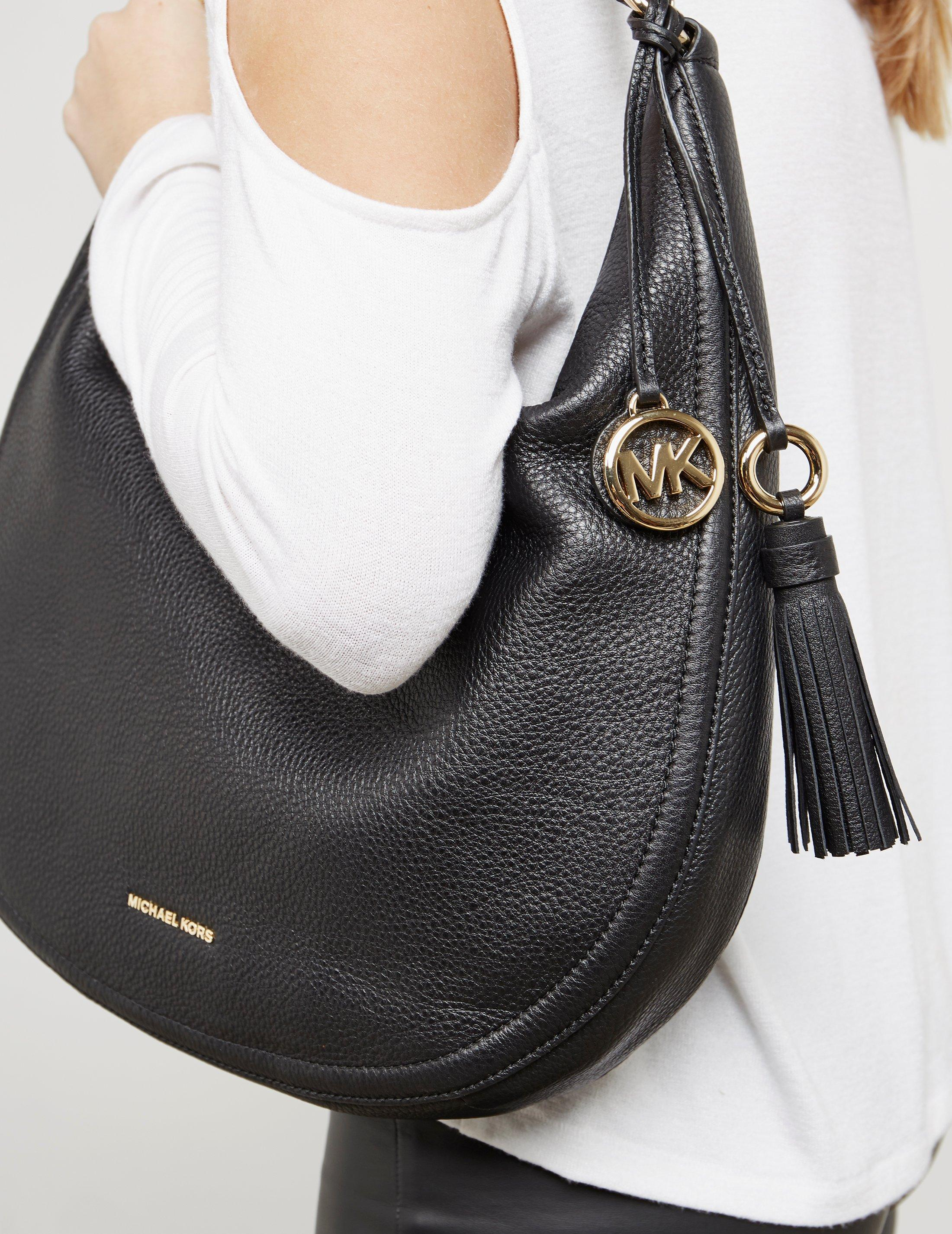 a6641c66daf0 Michael Kors Womens Lydia Hobo Shopper Bag Black in Black - Lyst