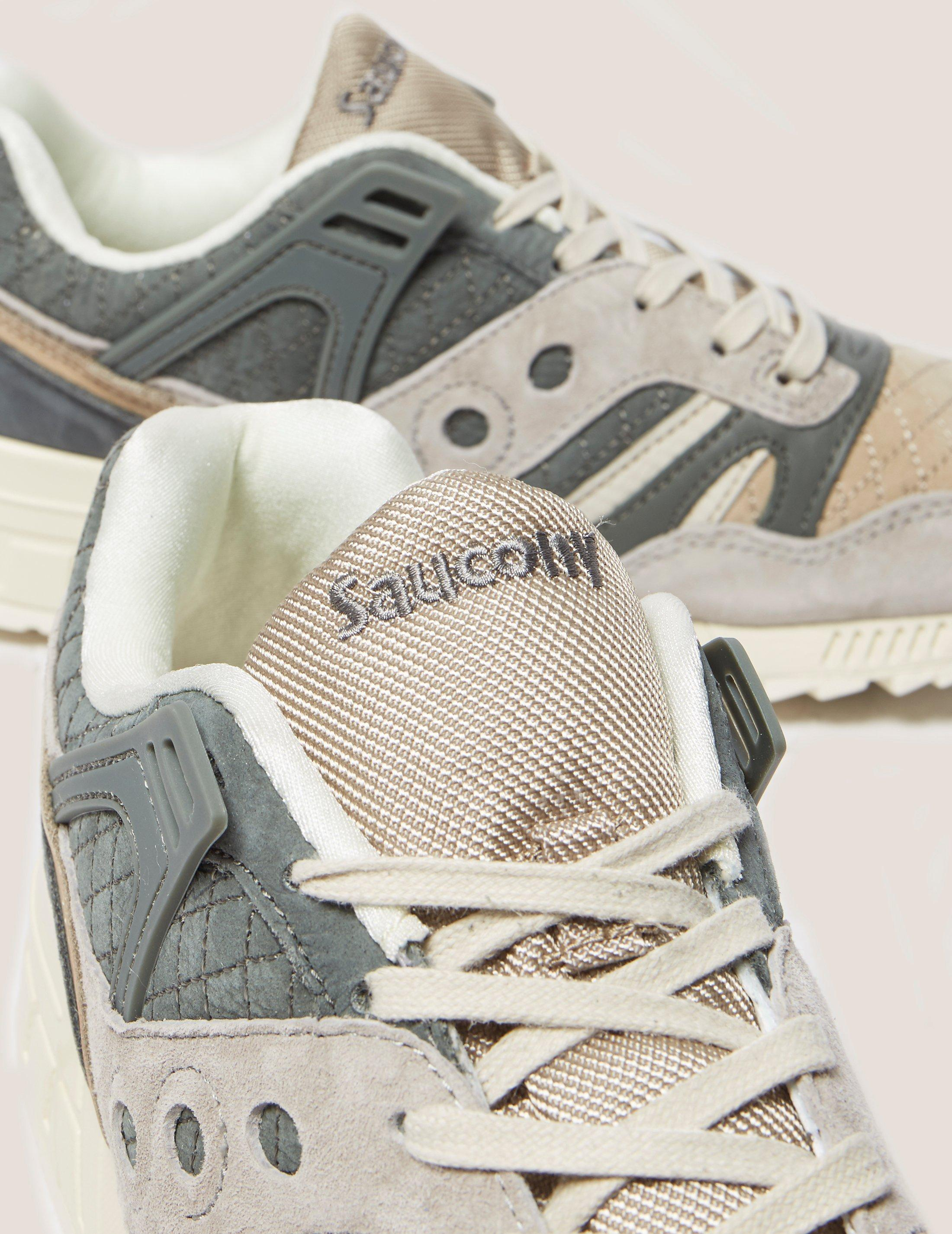 Saucony Suede Grid Sd Quilted in Grey/Beige (Grey) for Men