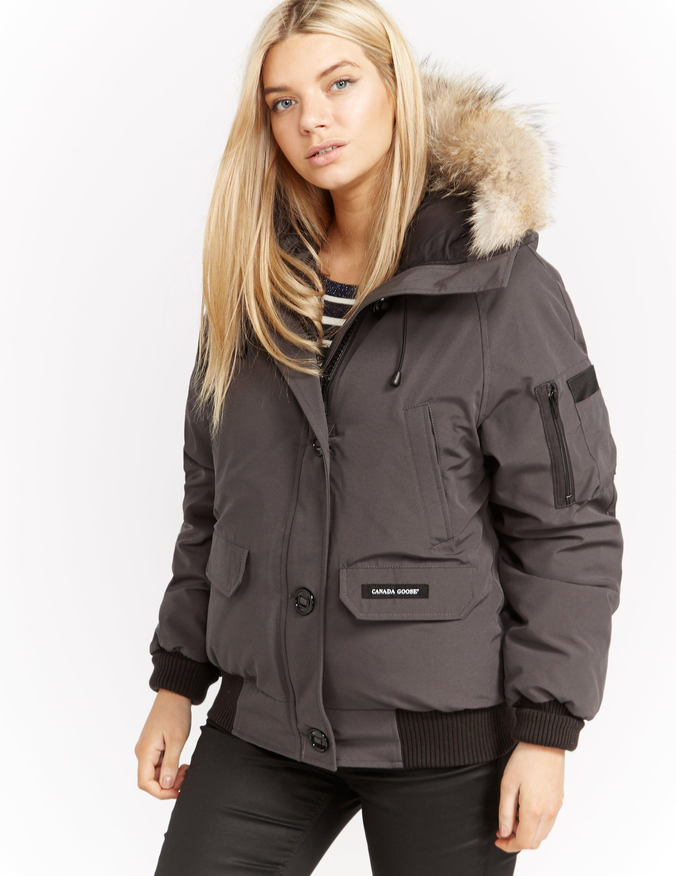 Canada Goose - Gray Womens Chilliwack Padded Bomber Jacket Grey - Lyst.  View fullscreen