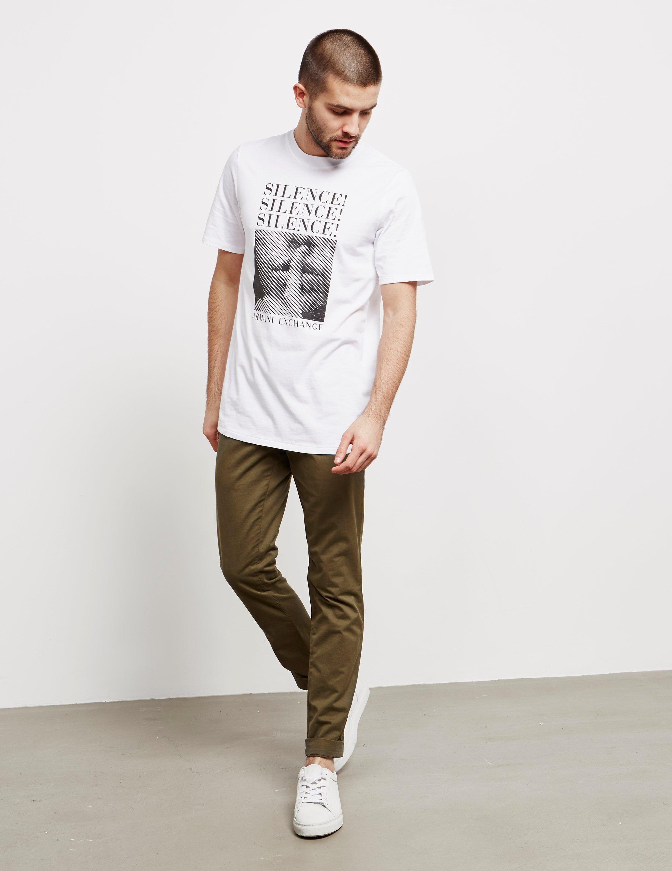 ad9d1c24fce122 Lyst - Armani Exchange Silence Short Sleeve T-shirt - Online Exclusive  White in White for Men - Save 2%