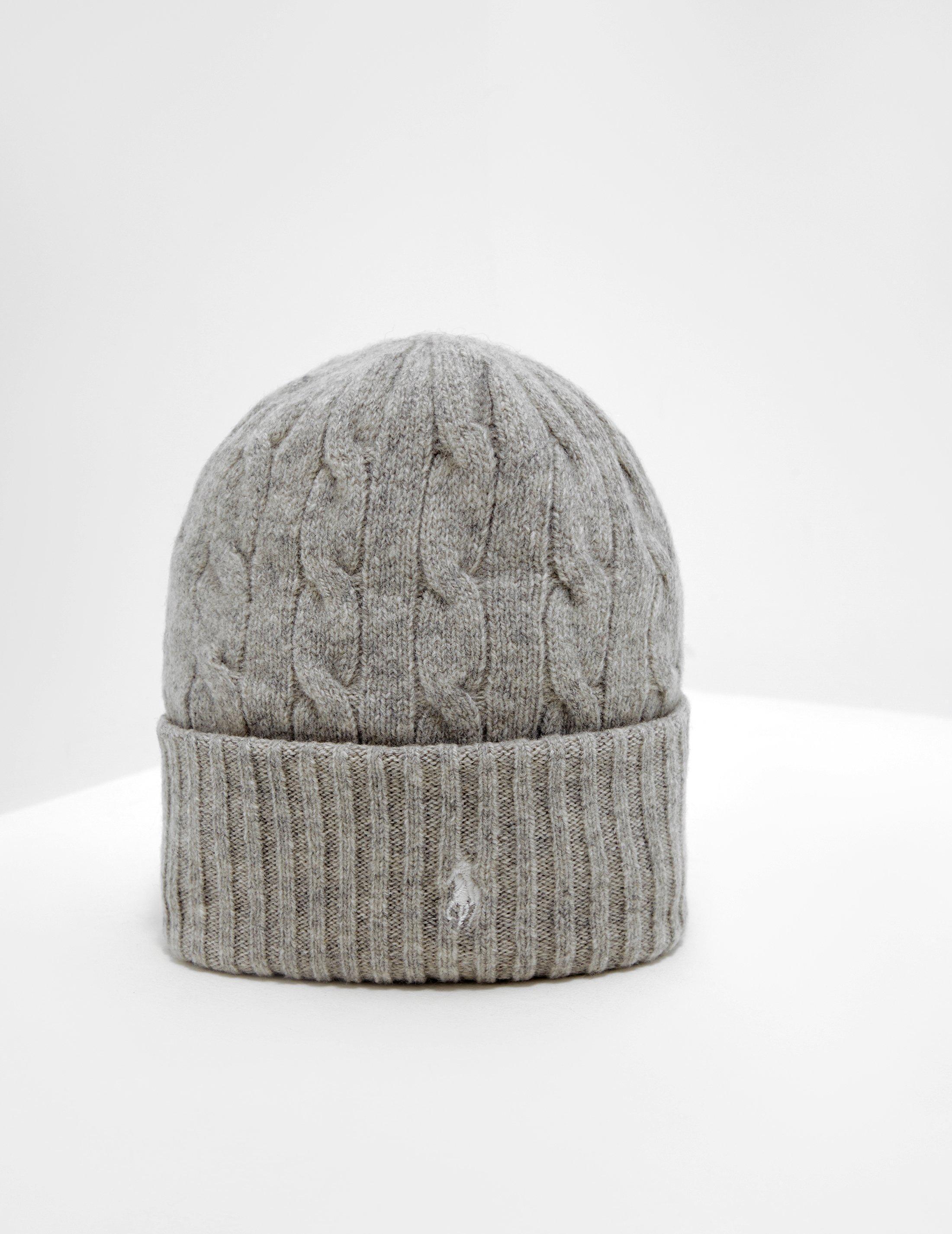 e97678b4053526 Polo Ralph Lauren Wool Beanie Grey in Gray - Lyst