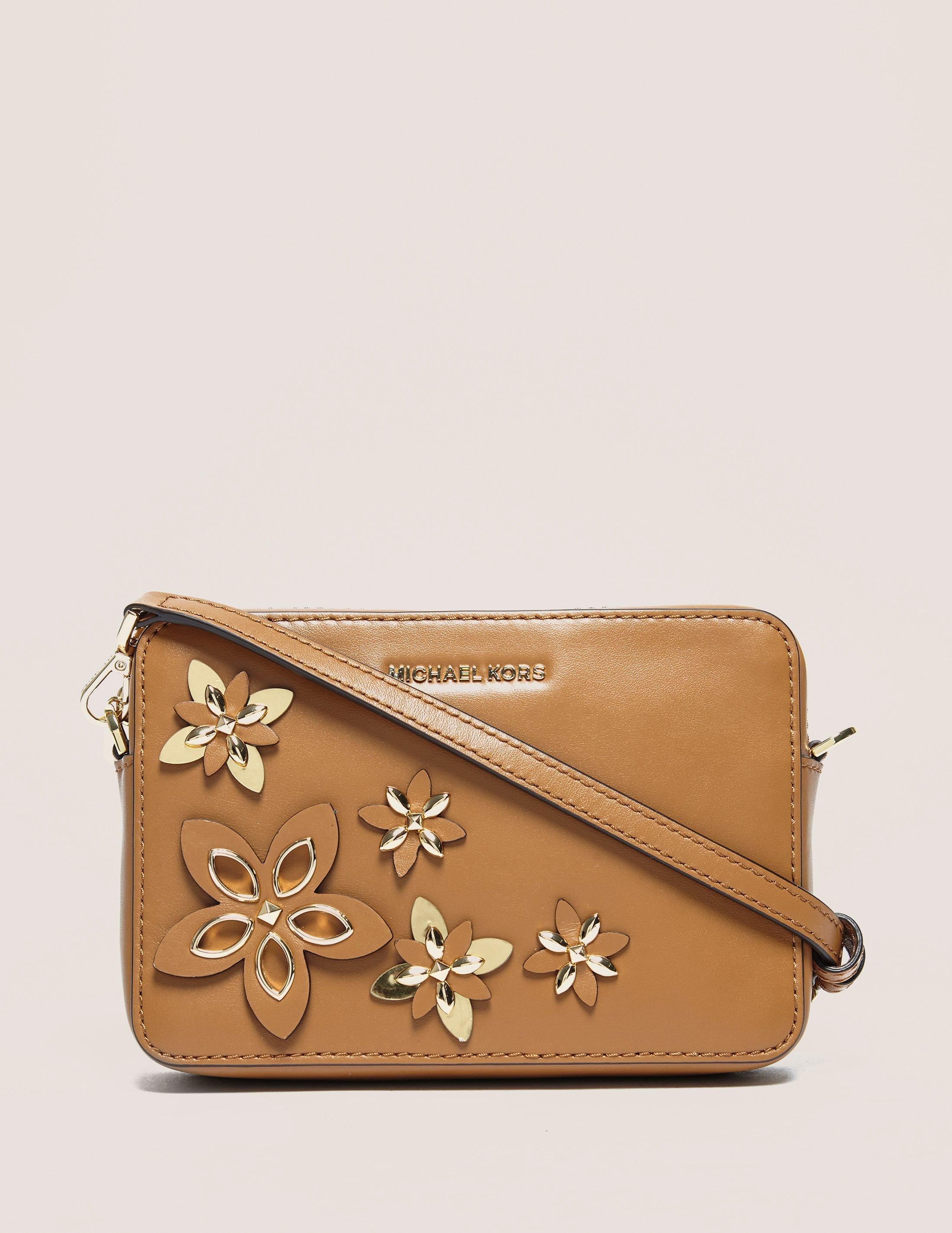 Michael Kors Flowers Medium Camera Bag In Brown - Lyst
