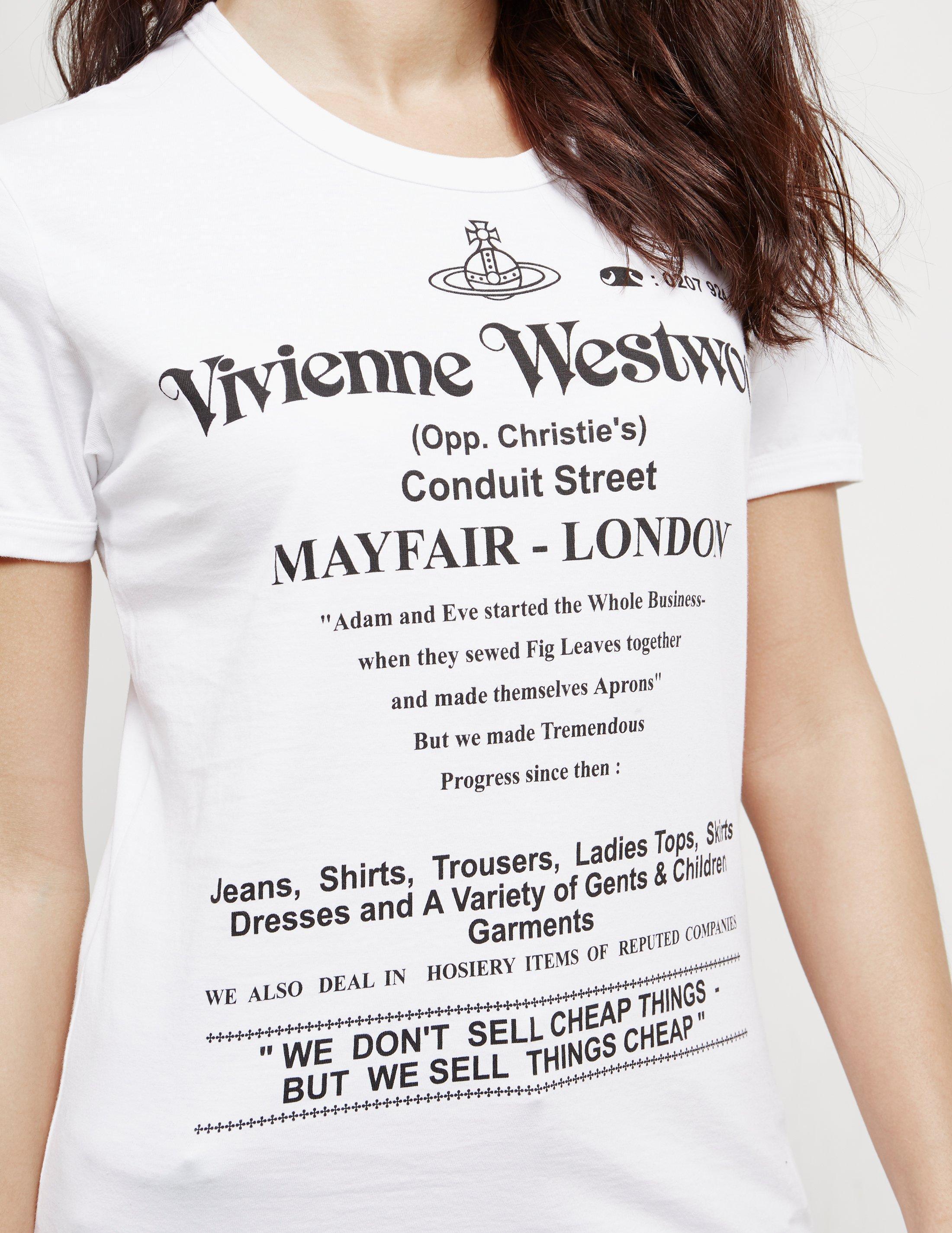 0ed8e8b9e8 Vivienne Westwood - Anglomania Cheap Things Short Sleeve T-shirt White -  Lyst. View fullscreen