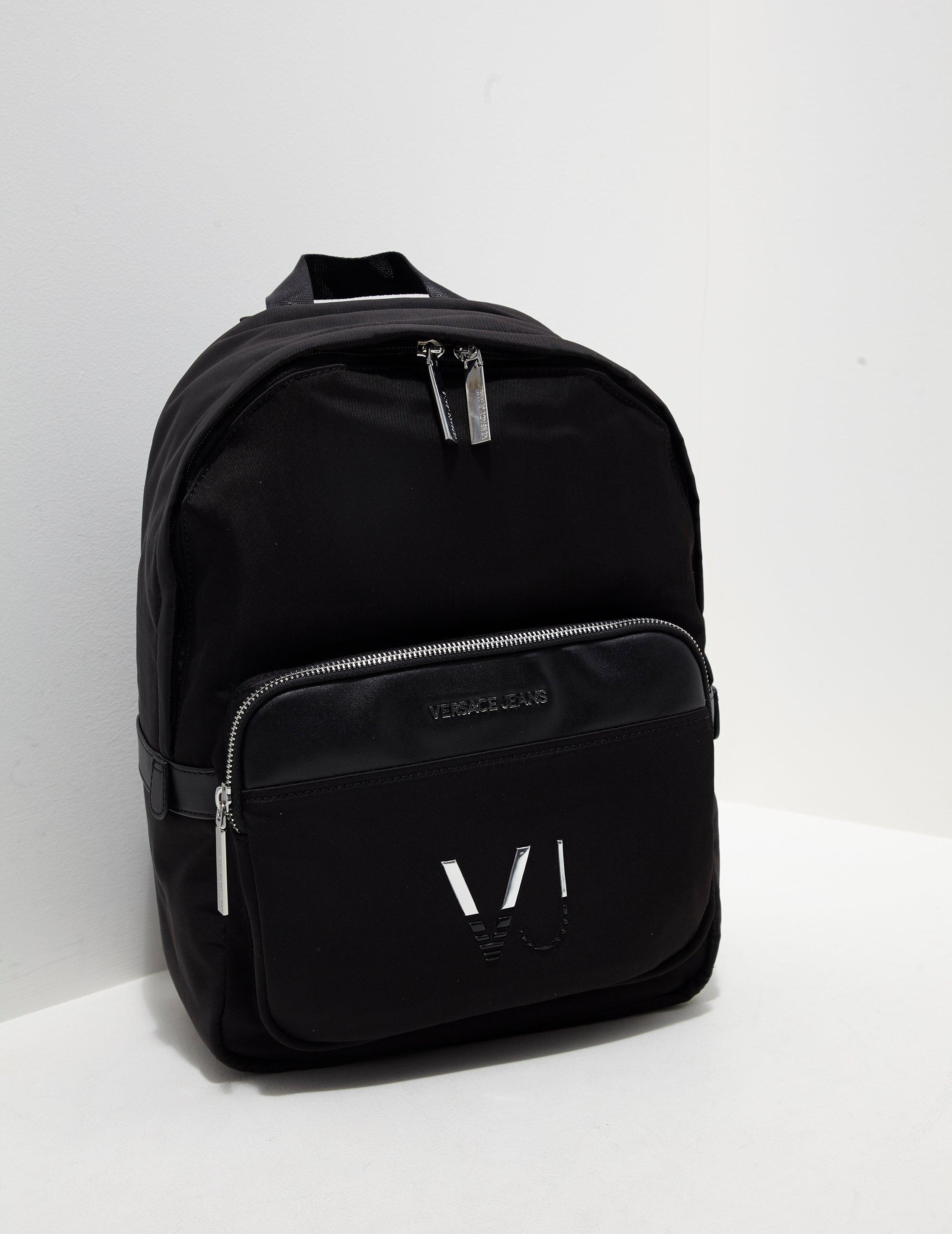 0a024cb67f39 Lyst Versace Jeans Mens Linea Logo Backpack Black In For Men
