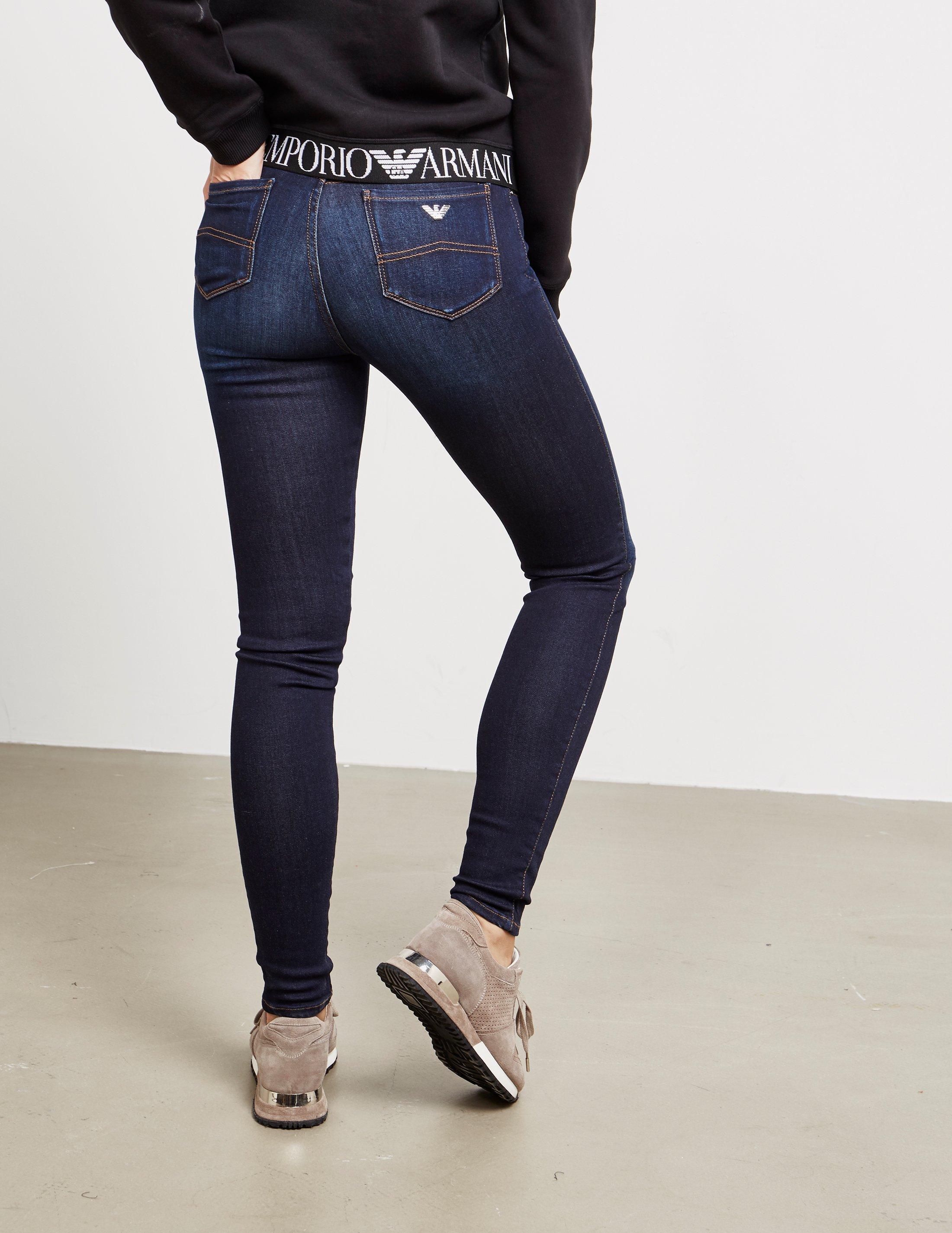 b511bcd7 Emporio Armani Womens Stretch Skinny Jeans Blue