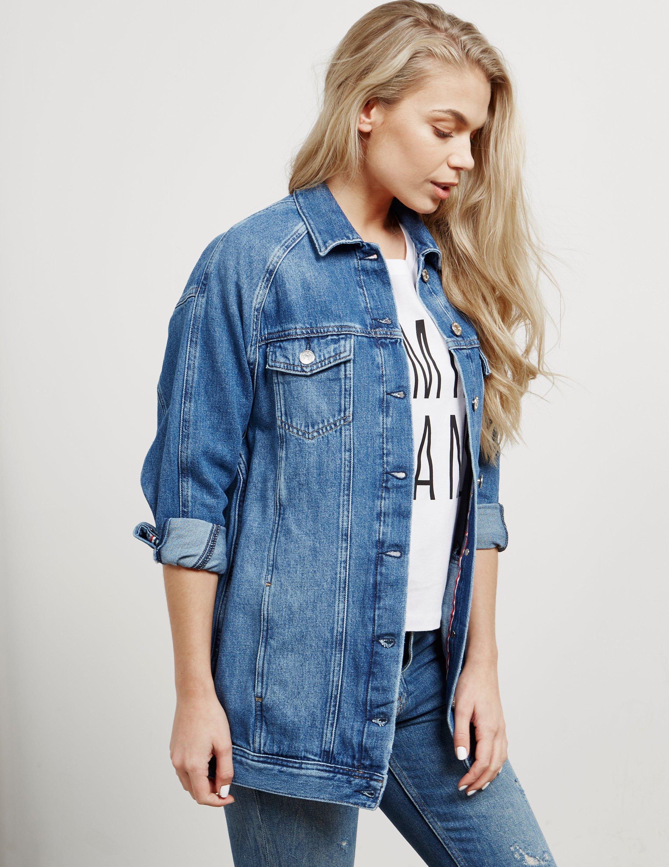 NWT Women/'s Tommy Hilfiger Long Sleeve Jeans Denim Jacket