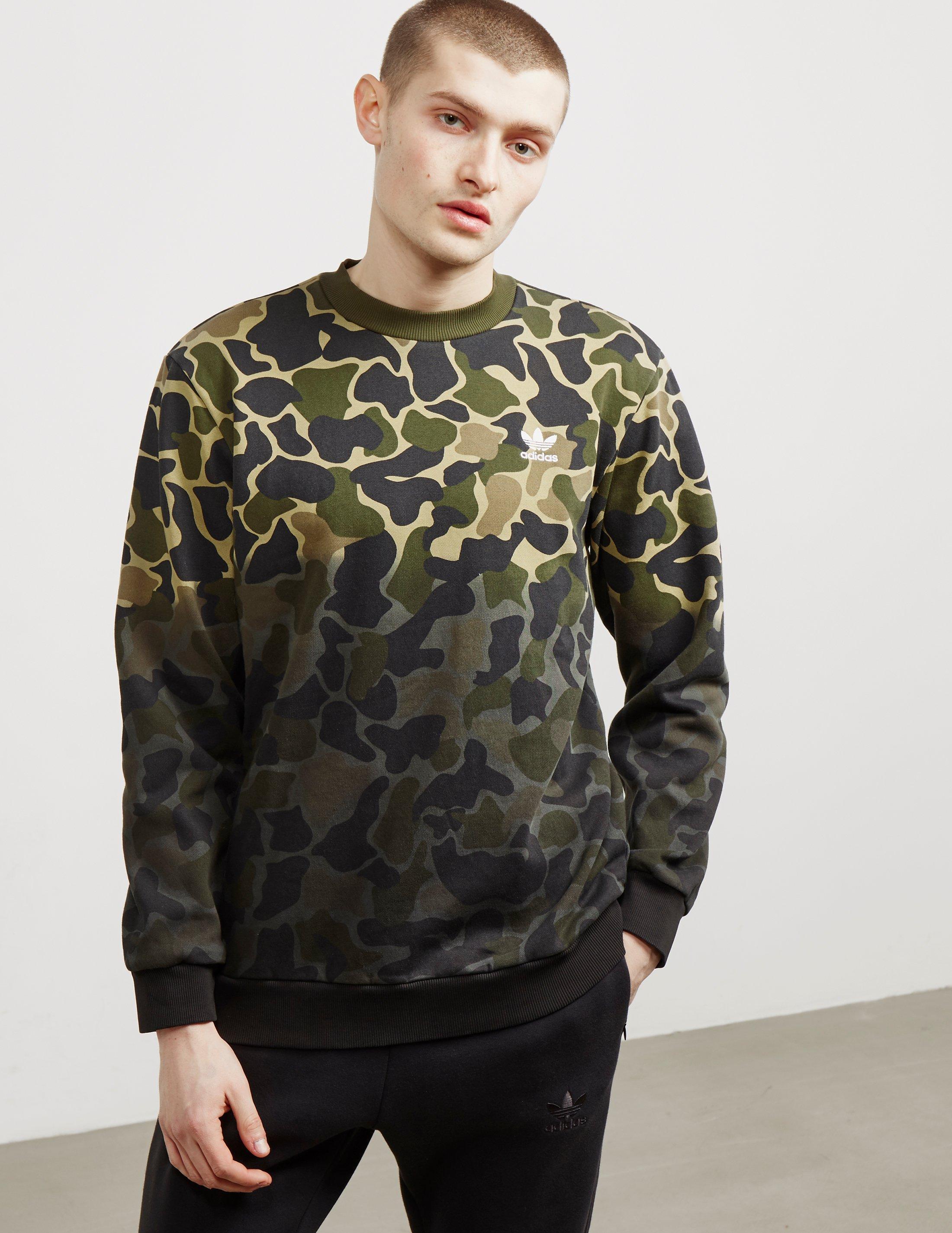 great deals newest outlet boutique Mens Camo Crew Sweatshirt Camo/green