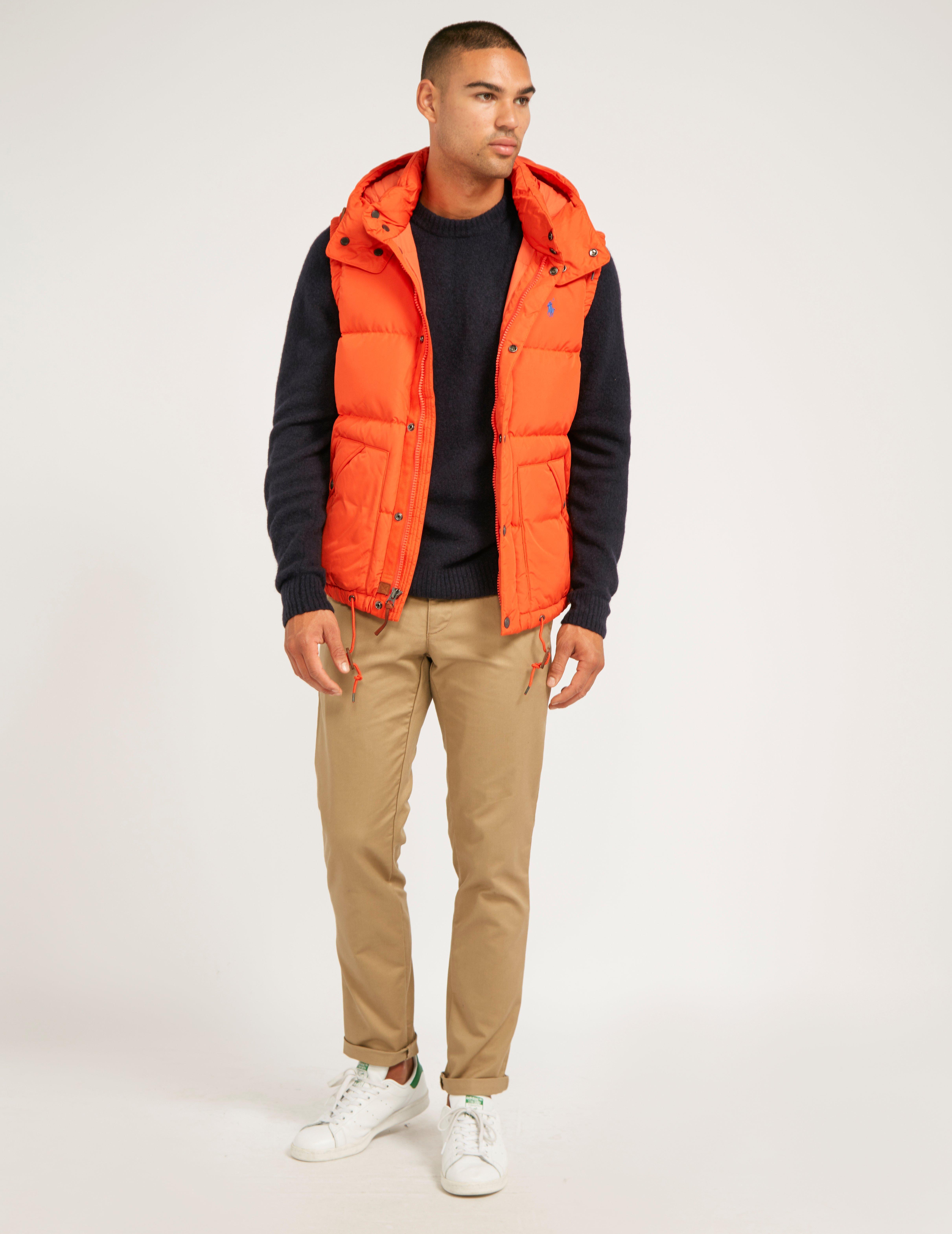 lyst polo ralph lauren gilet in orange for men. Black Bedroom Furniture Sets. Home Design Ideas