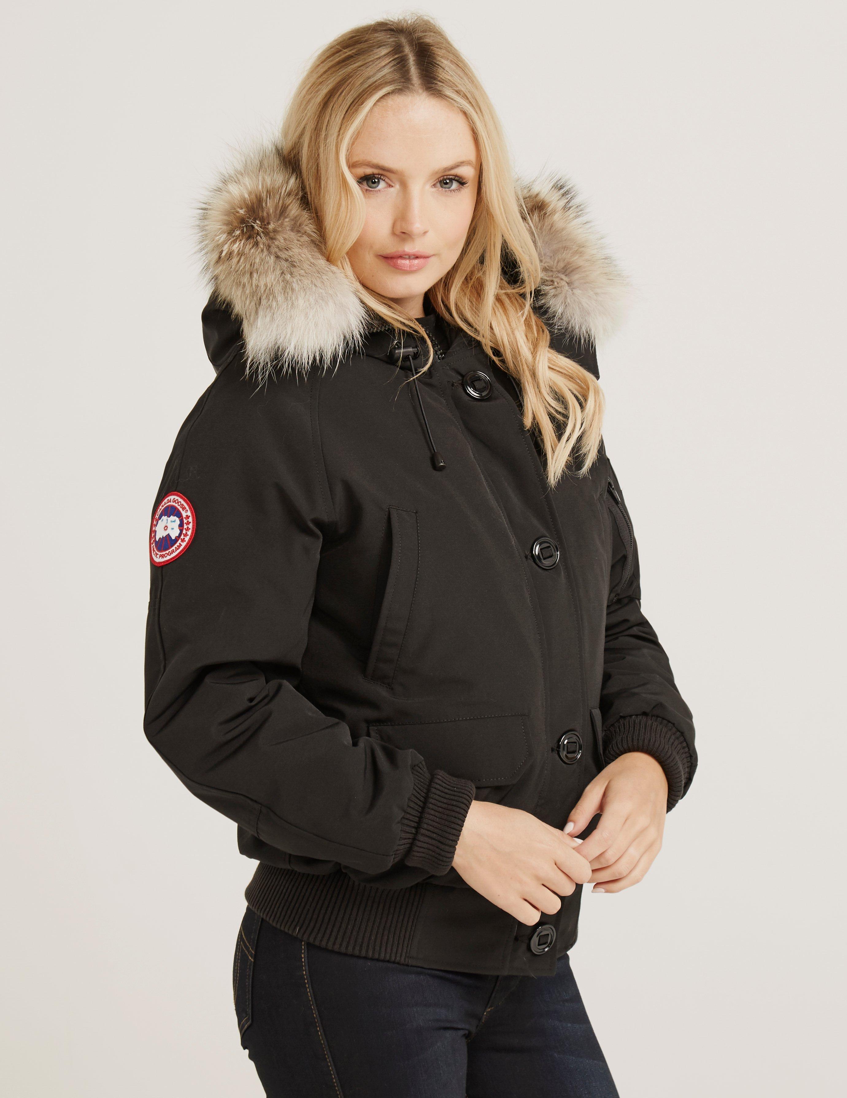 26e2ea60fd4 Canada Goose Womens Chilliwack Padded Bomber Jacket Black in Black ...