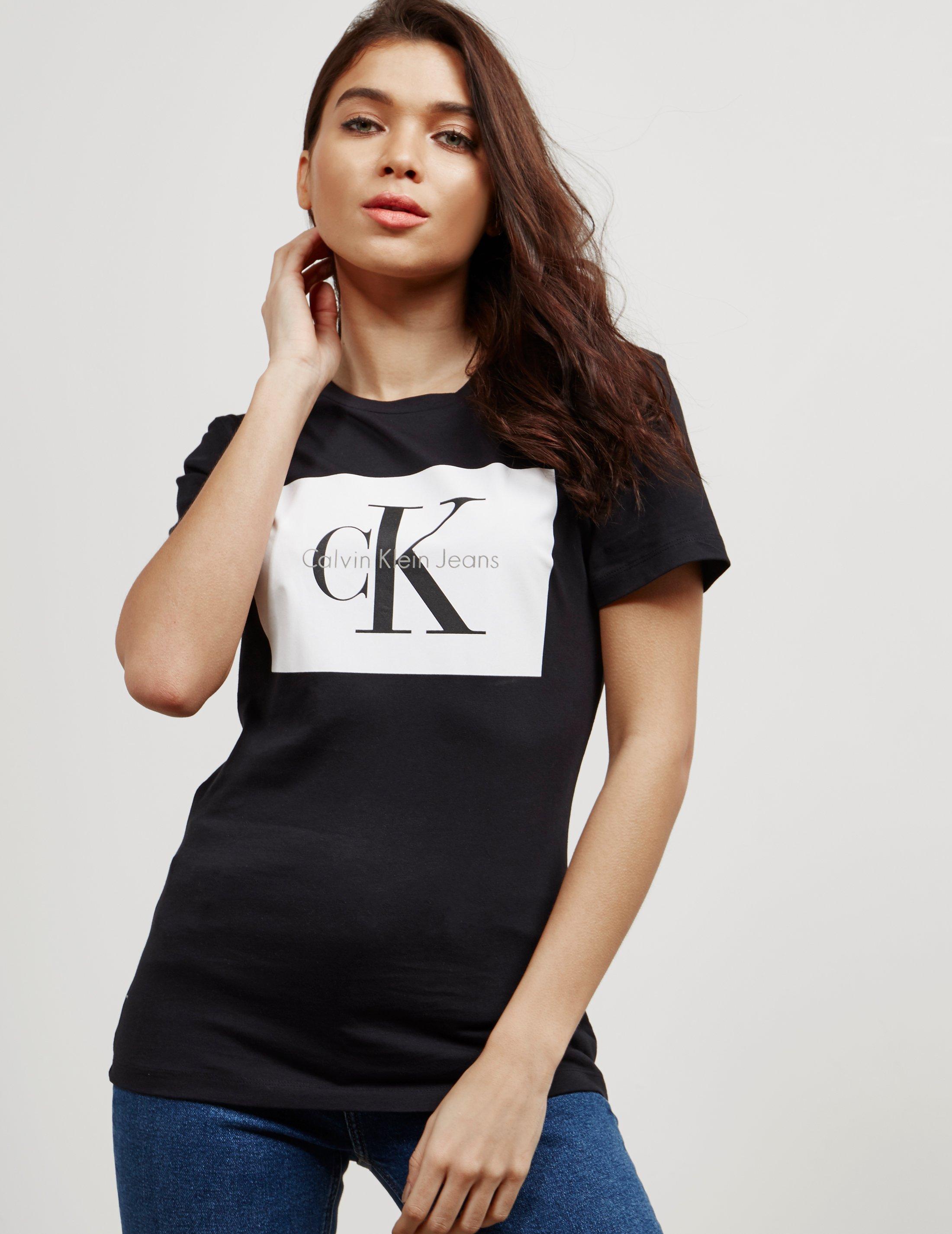 Online Square Klein Womens T Short Calvin Shirt Exclusive Sleeve x067pqpSw
