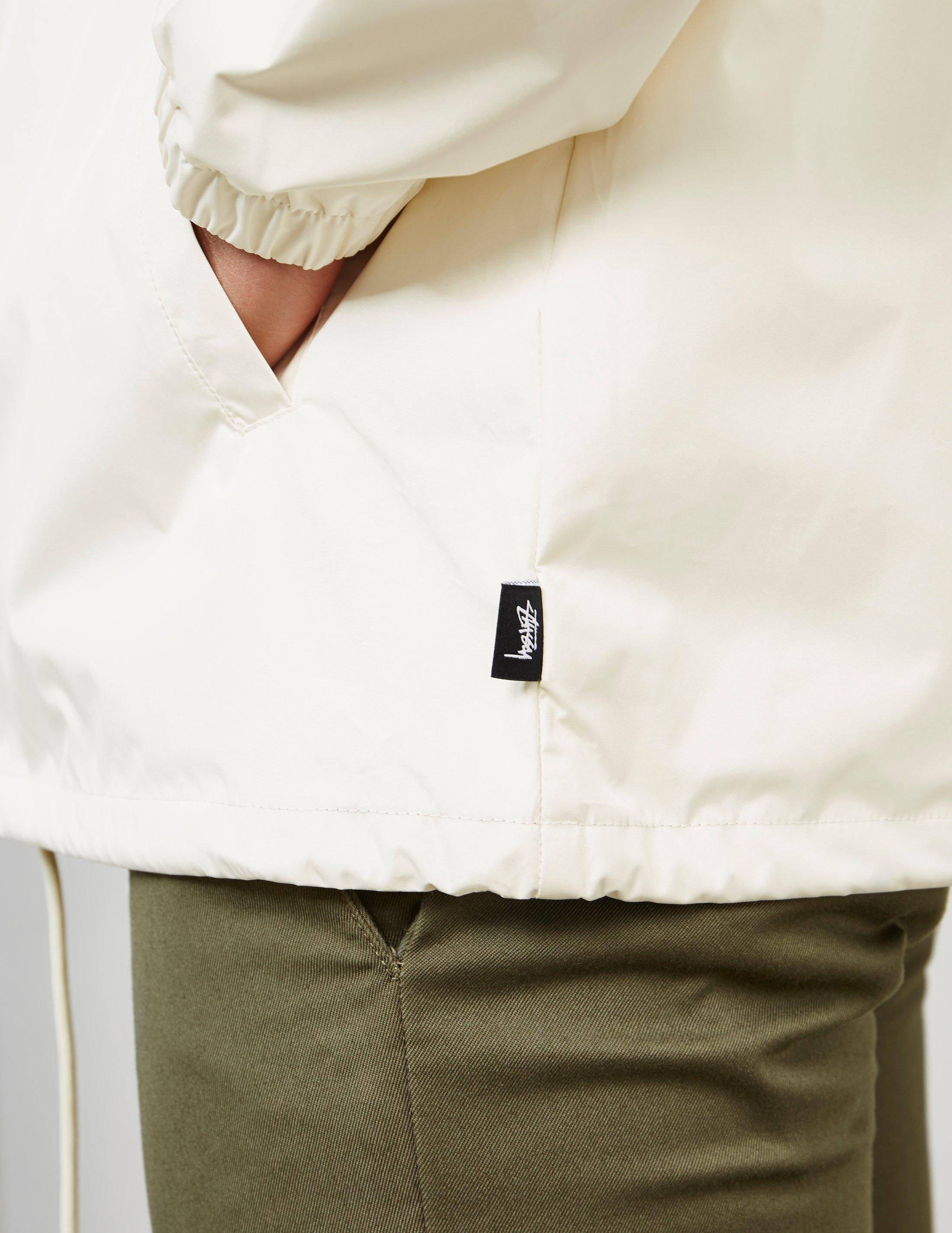 Stussy Synthetic Cruize Coach Jacket in Stone (White) for Men