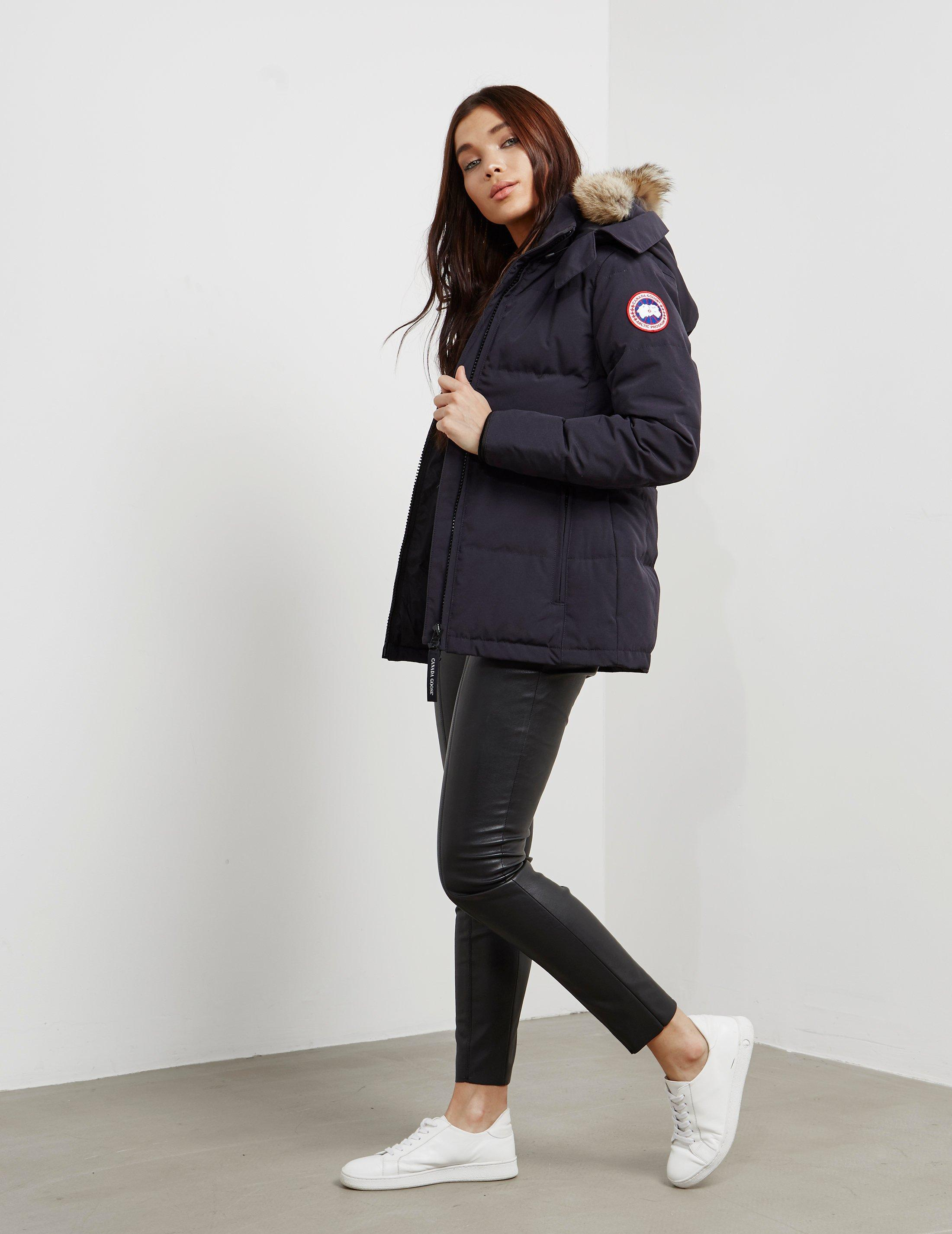3d38d01c348a Canada Goose Womens Chelsea Parka Jacket Navy Blue in Blue - Lyst