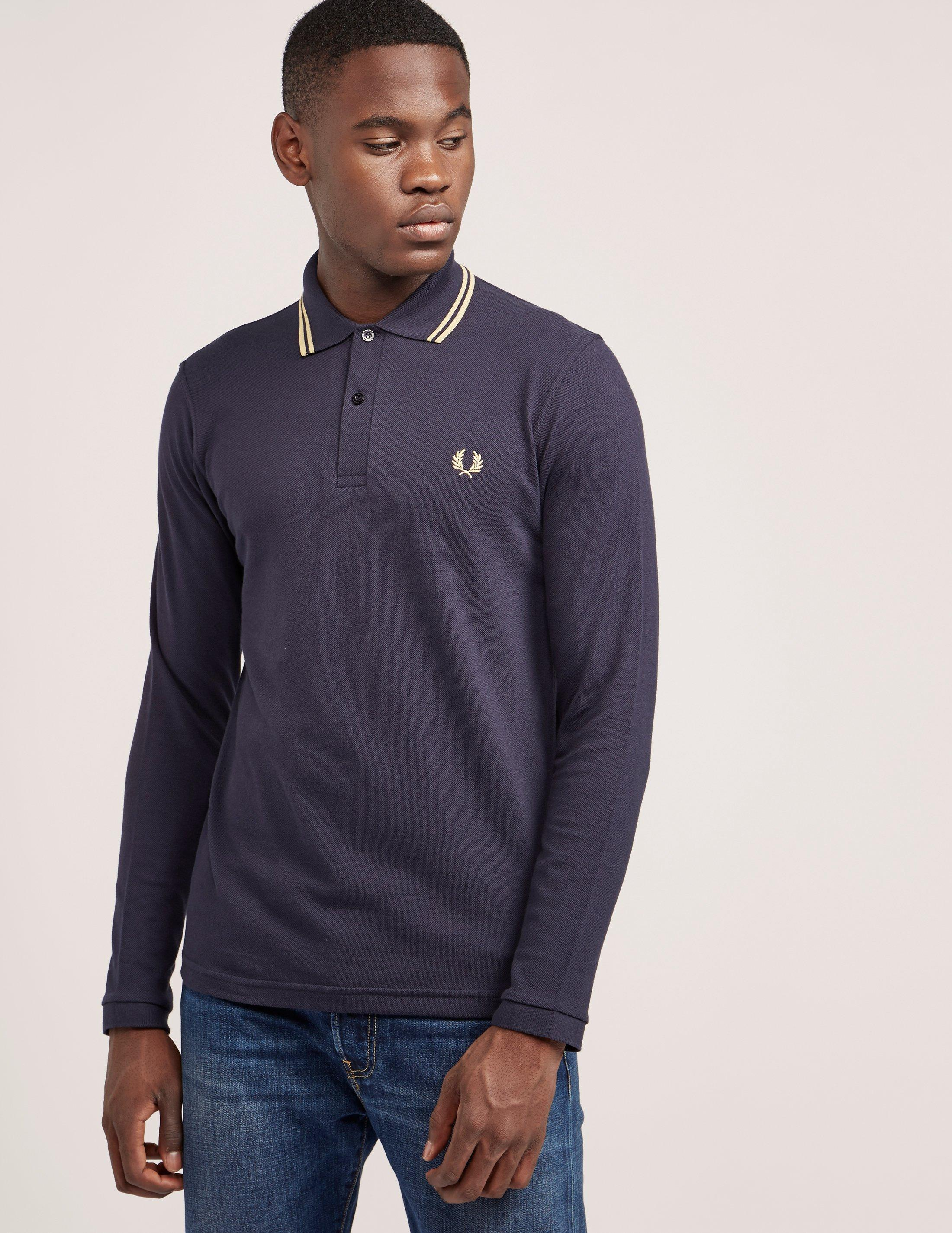 Lyst Fred Perry Mens Reissue Twin Tipped Long Sleeve Polo Shirt