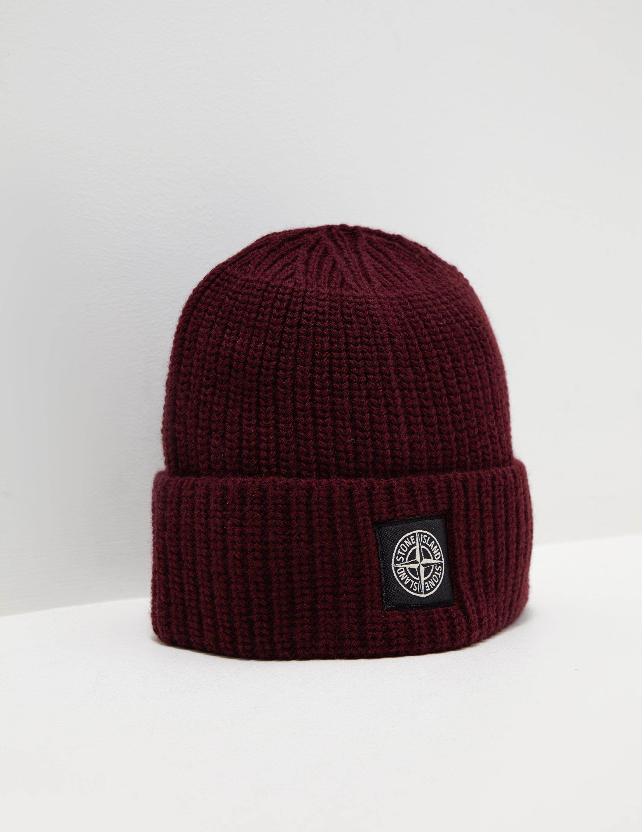 5707e45c510 ... Stone Island. Mens Patch Beanie Red hot sale online 54e99 d946c   Moncler Red Knit ...
