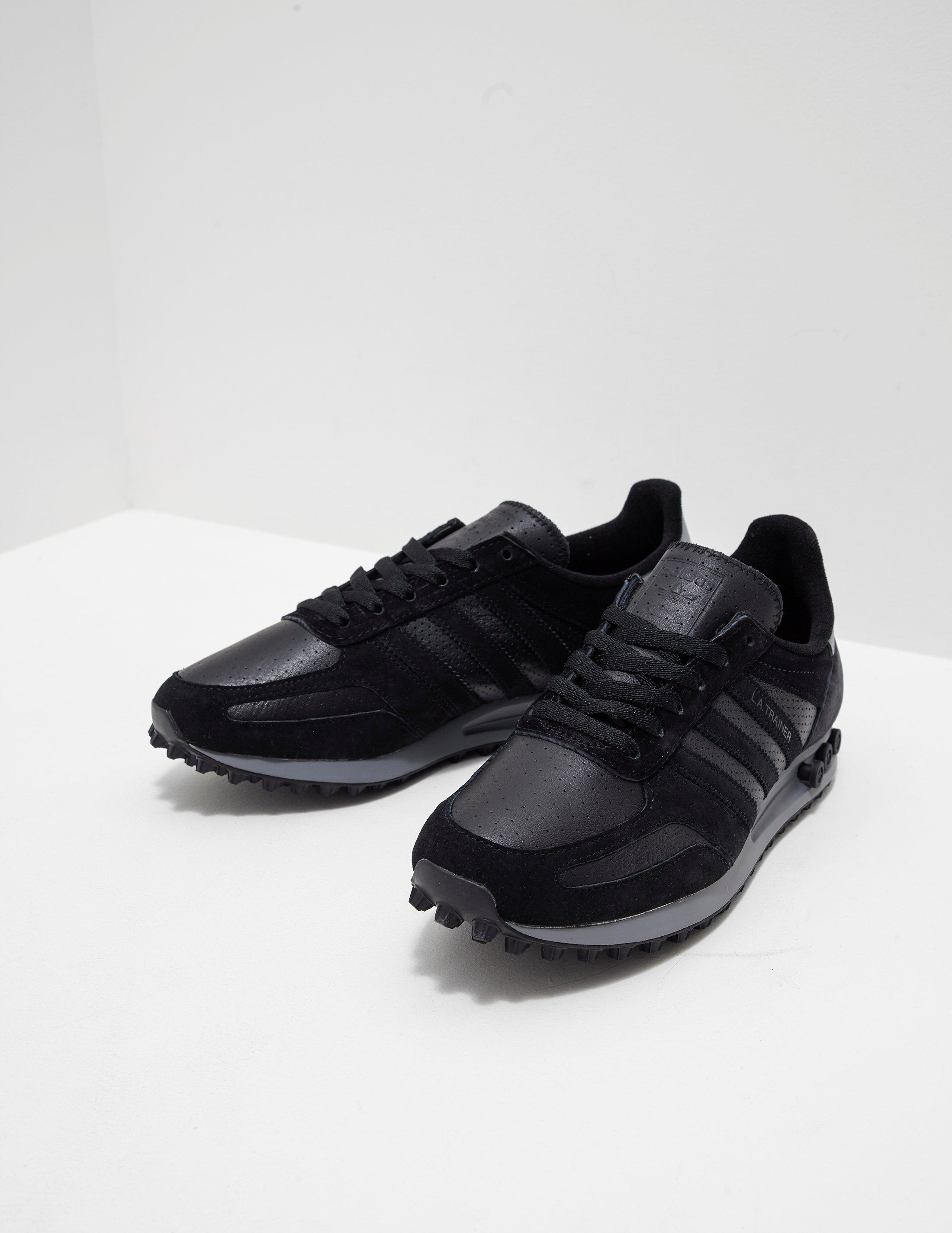 La Trainer Leather Black