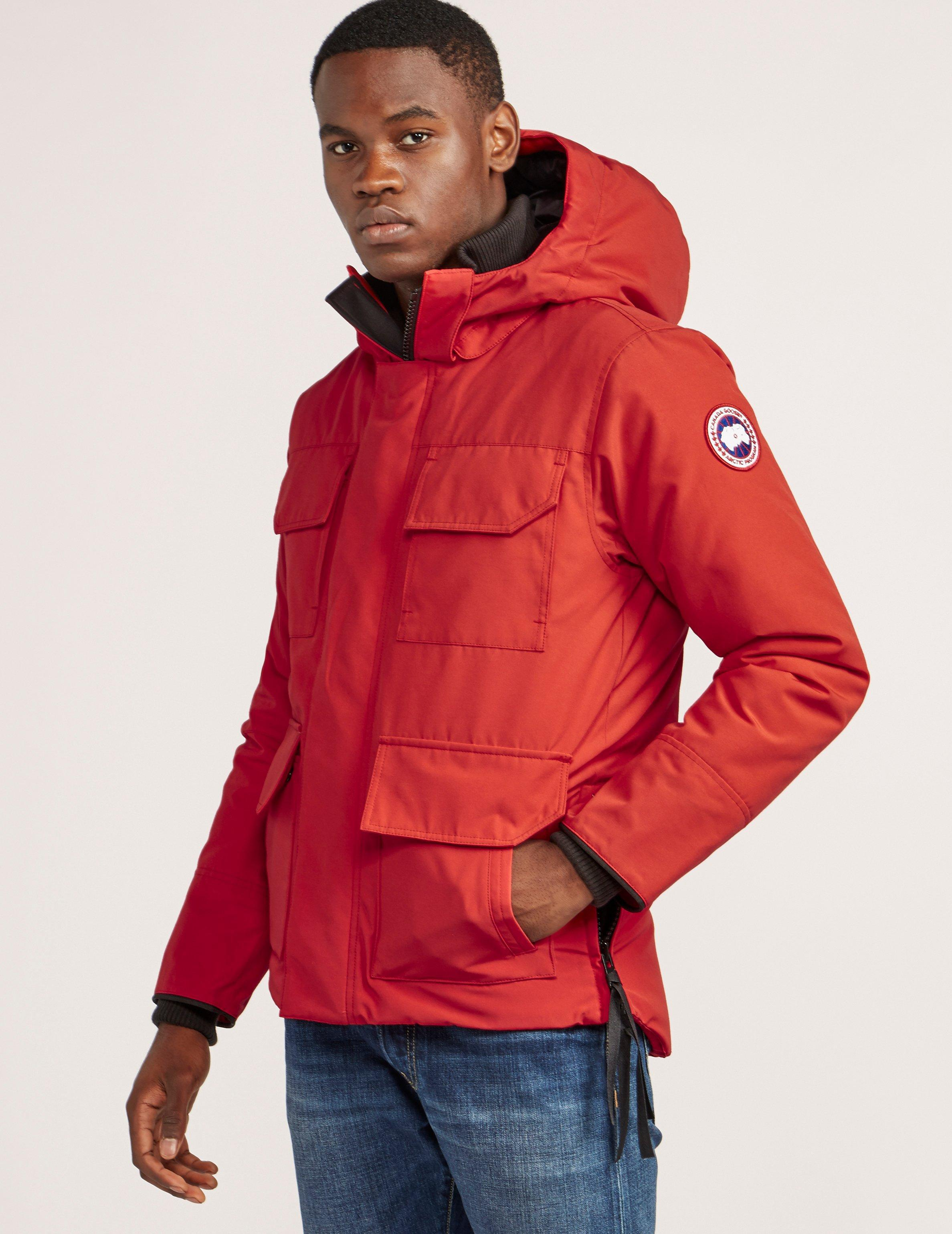 canada goose red jacket mens