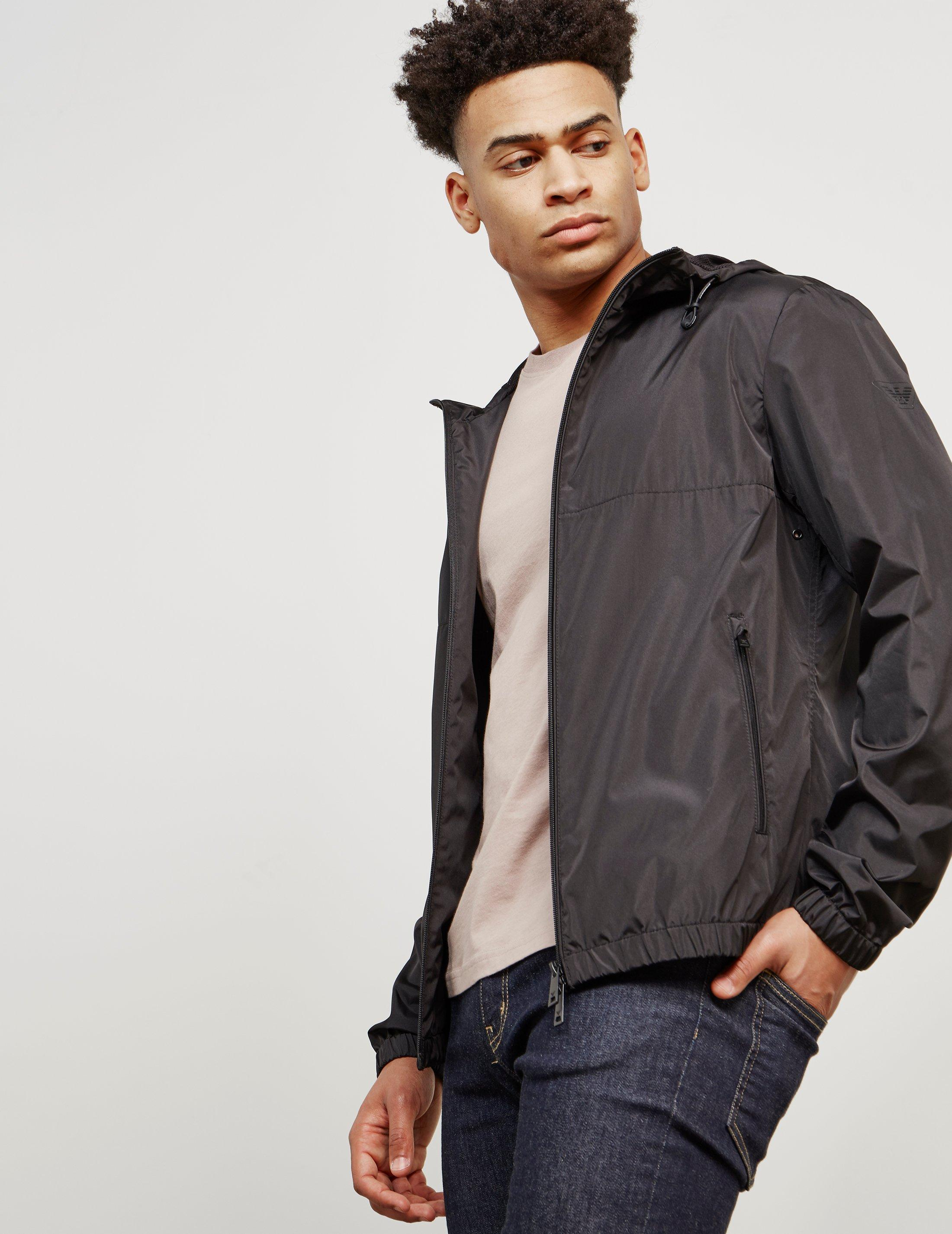 59aeb1bd86 Emporio Armani Hooded Cagoul Jacket - Online Exclusive Black for men